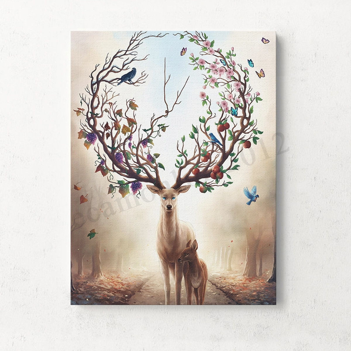 Unframed Canvas Print Deer Design Modern Home Decor Wall Art Intended For Recent Home Decor Wall Art (Gallery 9 of 20)
