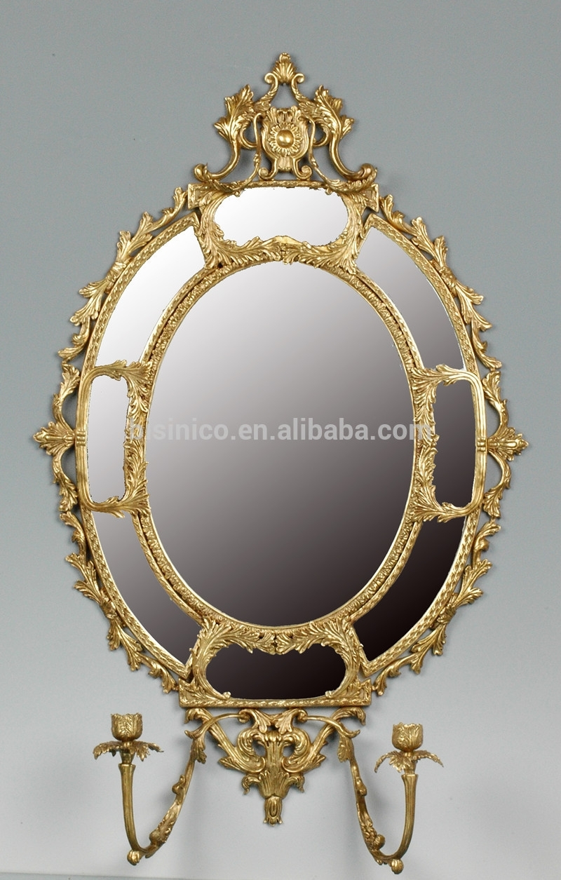 Unique Design Oval Bronze Wall Mirror,exquisite Solid Brass Art Wall With Most Up To Date Bronze Wall Art (View 15 of 20)