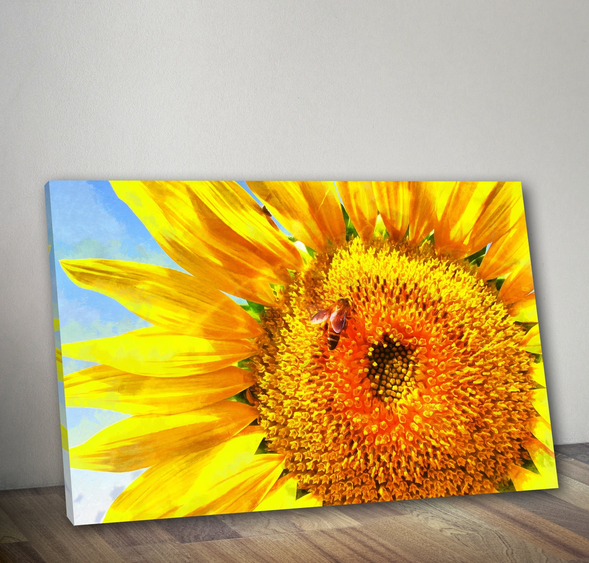 Unique Sunflower Wall Painting | Wall Decorations With Regard To Current Sunflower Wall Art (View 18 of 20)