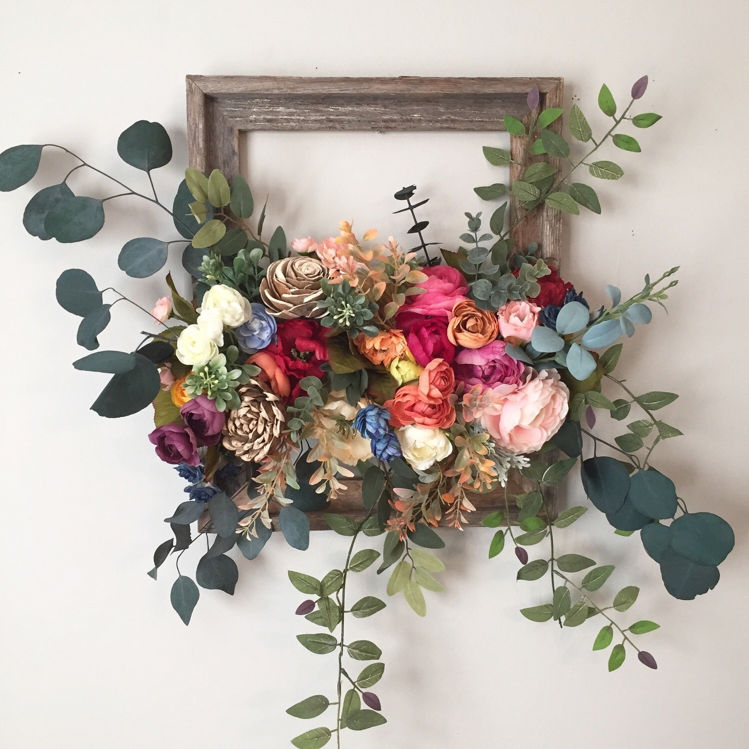 Unique Wall Hanging Flower Design | Wall Decorations intended for 2018 Floral Wall Art