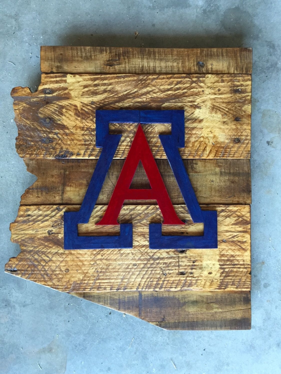 University Of Arizona Wood Sign, Arizona Sign, University Of Arizona For Current Arizona Wall Art (Gallery 9 of 20)