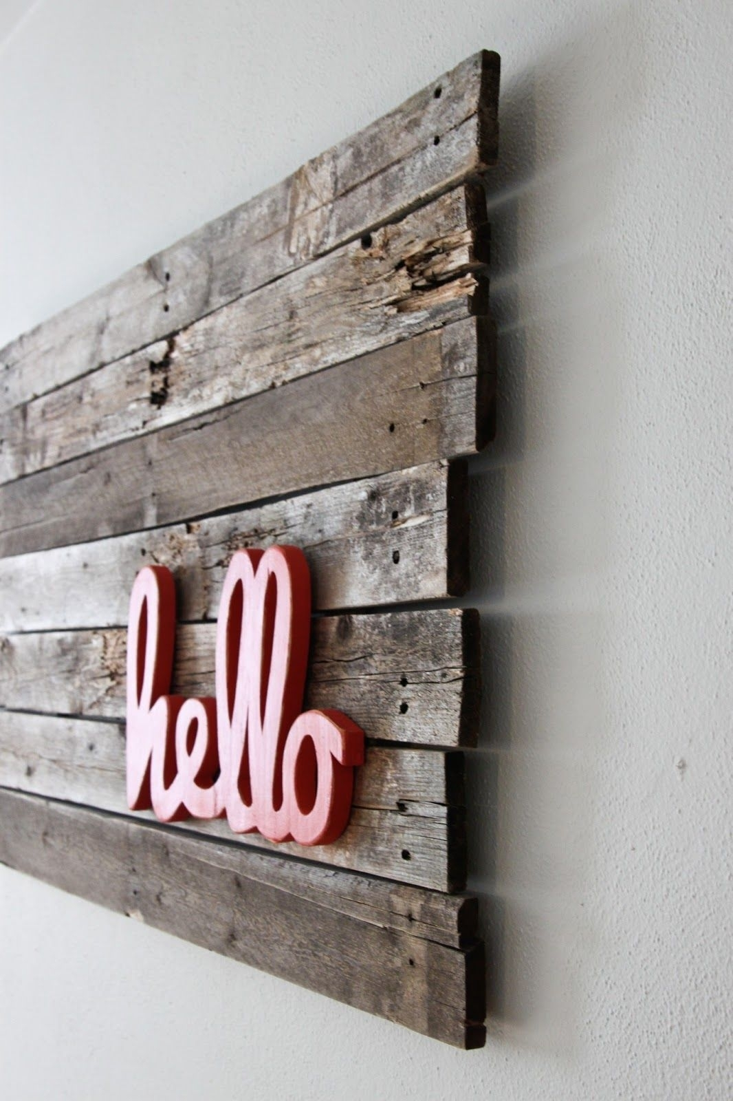 Upcycling Interiors: Brilliant Ideas For Pallet Wall Art | Pallet Within Most Recently Released Pallet Wall Art (View 11 of 15)