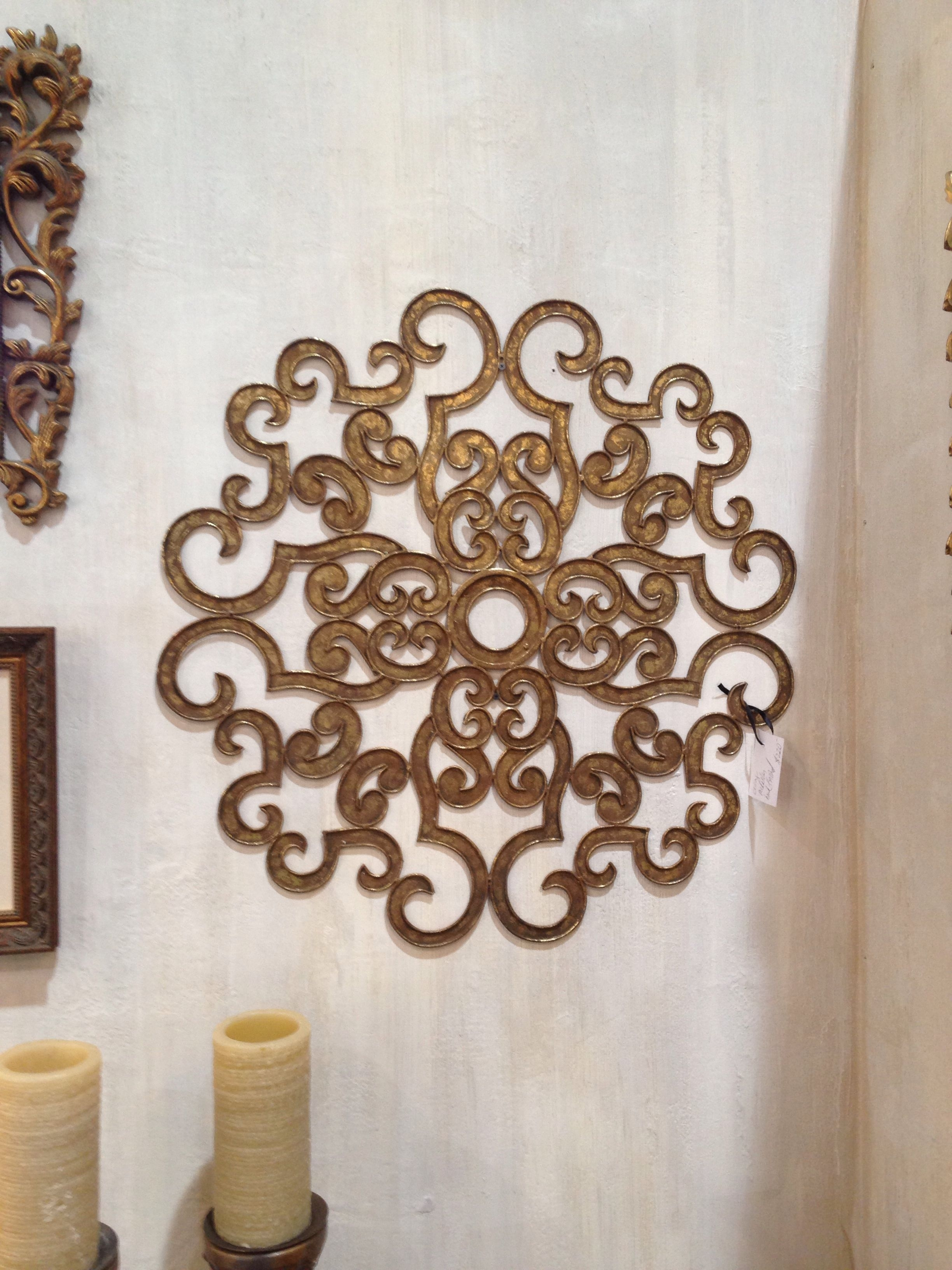 Use A Ceiling Medallion As Wall Art! | Inspiring Interiors For Latest Medallion Wall Art (View 17 of 20)