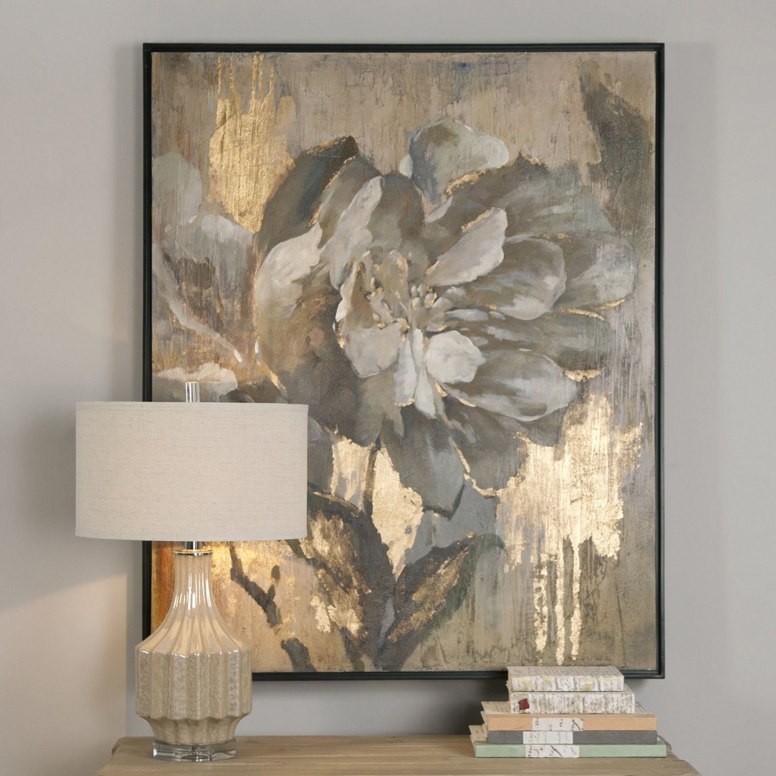 Uttermost Dazzling Floral Wall Art | Hayneedle For Most Up To Date Uttermost Wall Art (View 8 of 20)