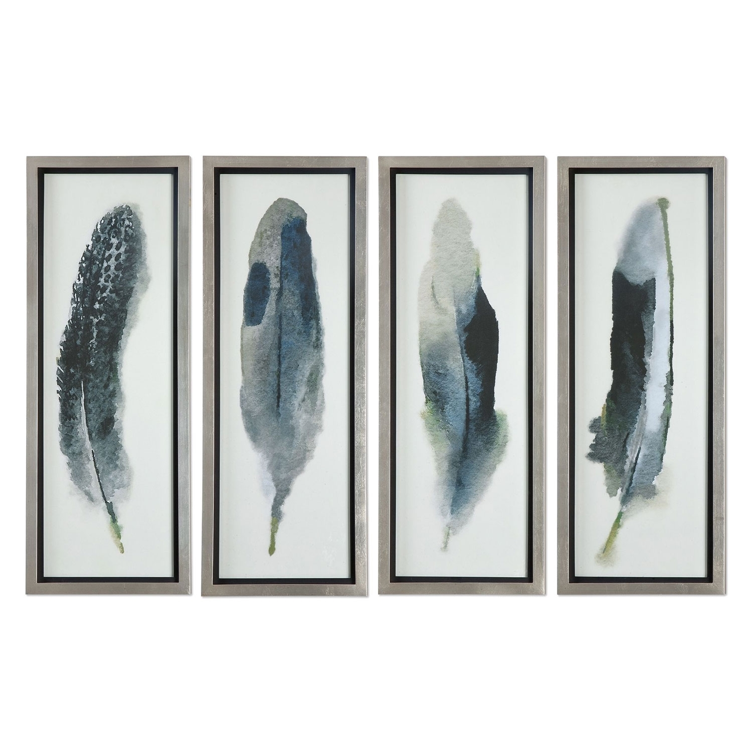 Uttermost Feathered Beautygrace Feyock: 14 X 38 Inch Wall Art In Most Popular Wall Art Sets (Gallery 4 of 15)