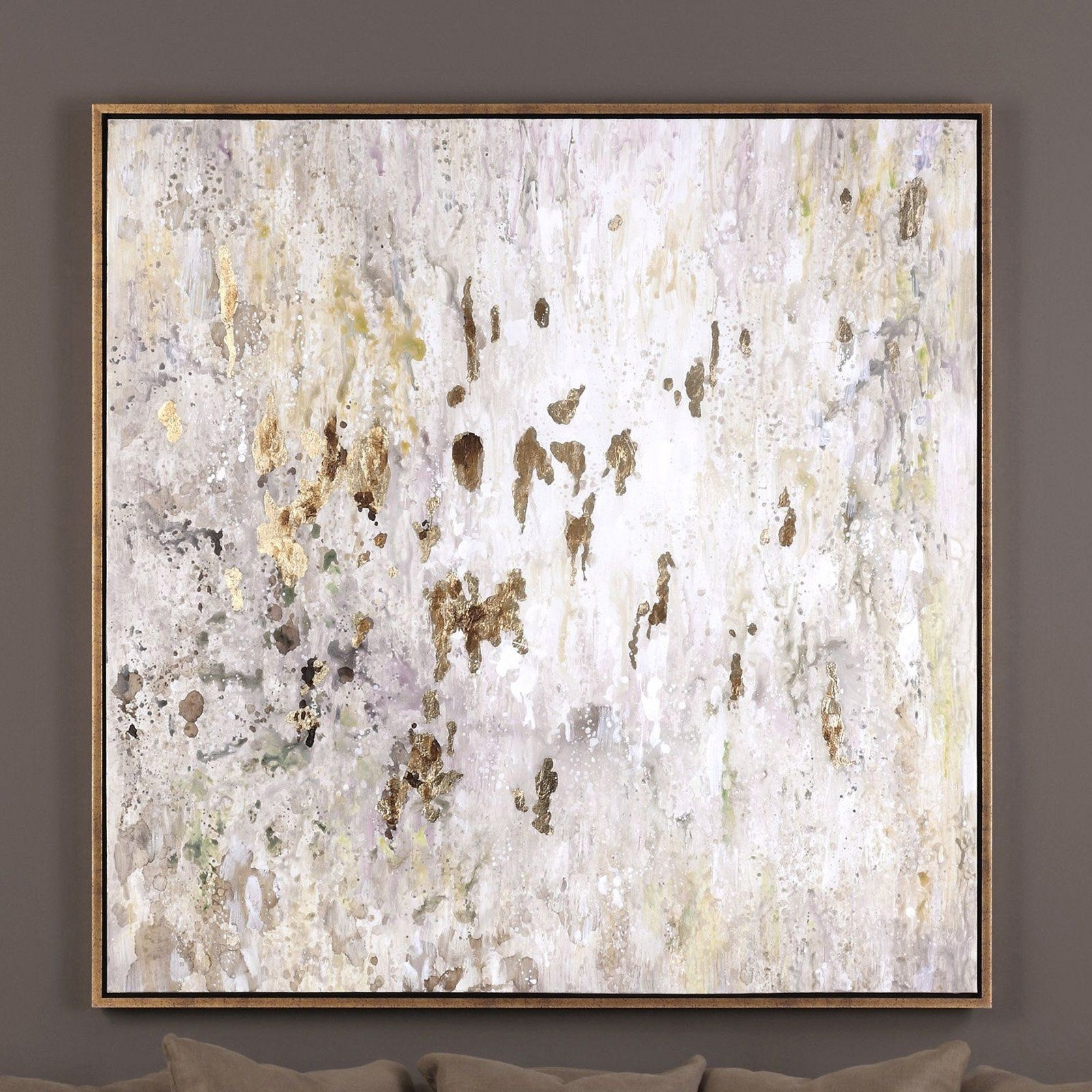 Uttermost Golden Raindrops Wall Art | From Hayneedle In Recent Uttermost Wall Art (View 13 of 20)