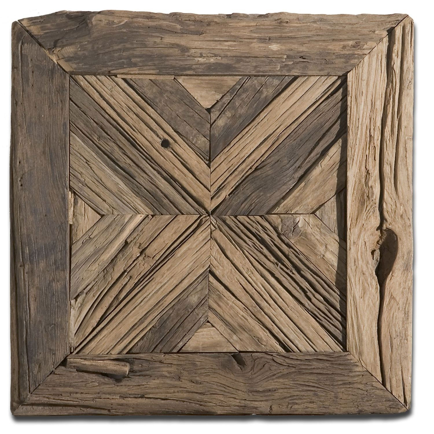 Uttermost Rennick Rustic Wood Wall Art 04014 | Bellacor Regarding Best And Newest Wood Medallion Wall Art (View 15 of 20)