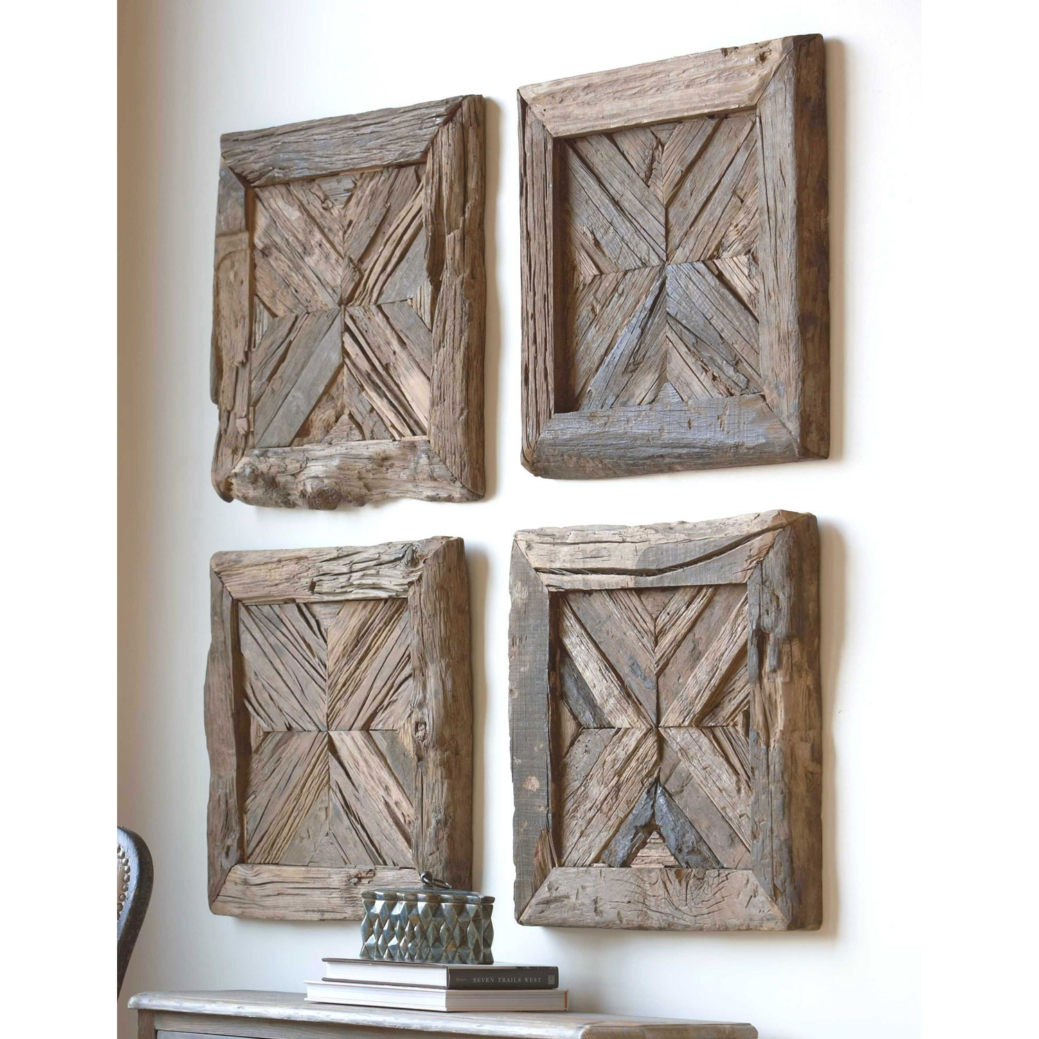 Uttermost Rennick Rustic Wood Wall Art 04014 | Bellacor With Most Current Uttermost Wall Art (View 3 of 20)