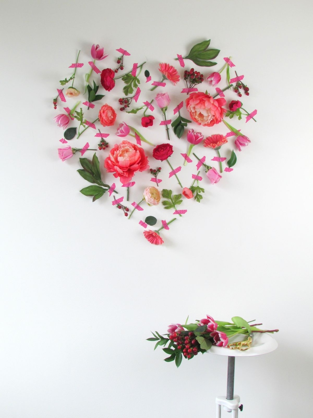 Valentines Day Flower Cool Flower Wall Art – Wall Decoration Ideas Intended For Most Up To Date Floral Wall Art (Gallery 9 of 20)