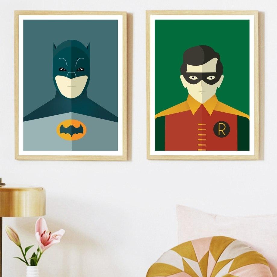 Verasun Batman Superman Superhero Wall Art Posters And Prints Canvas Inside 2018 Superhero Wall Art (View 17 of 20)