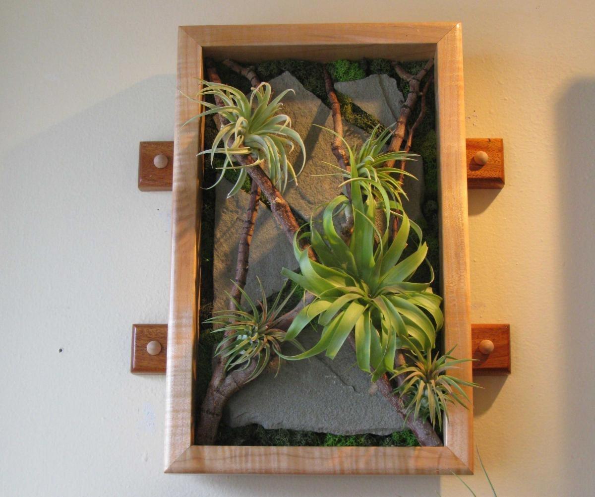 Vertical Garden Art At Ballard Floral Shop Midnight Blossom In Newest Living Wall Art (View 18 of 20)