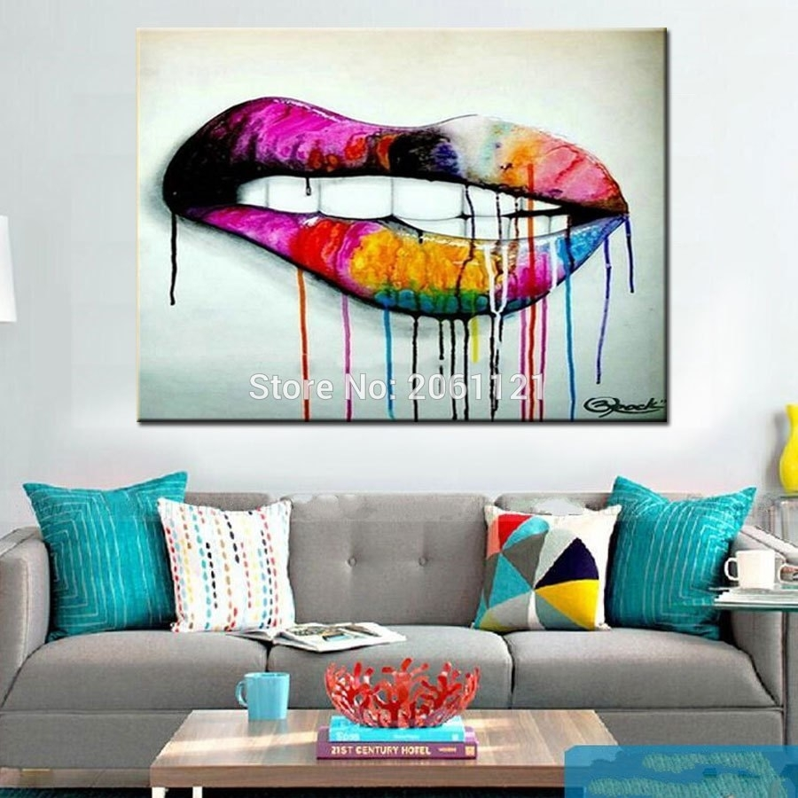 Vibrant Design Artwork For Living Room Pop Art Idea Wall Canvas In Most Recently Released Living Room Painting Wall Art (View 14 of 20)