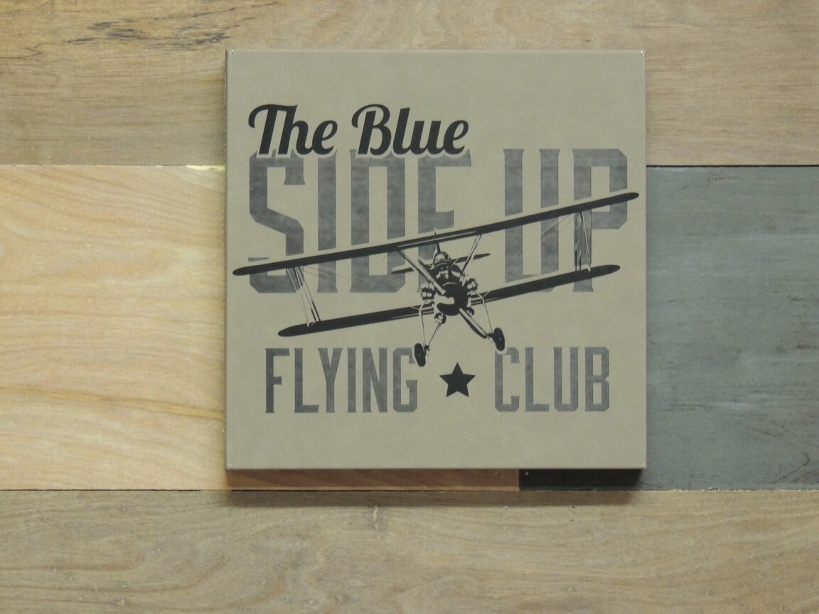 Vintage Aviation Wall Art, Blue Side Up Flying Club pertaining to 2017 Aviation Wall Art