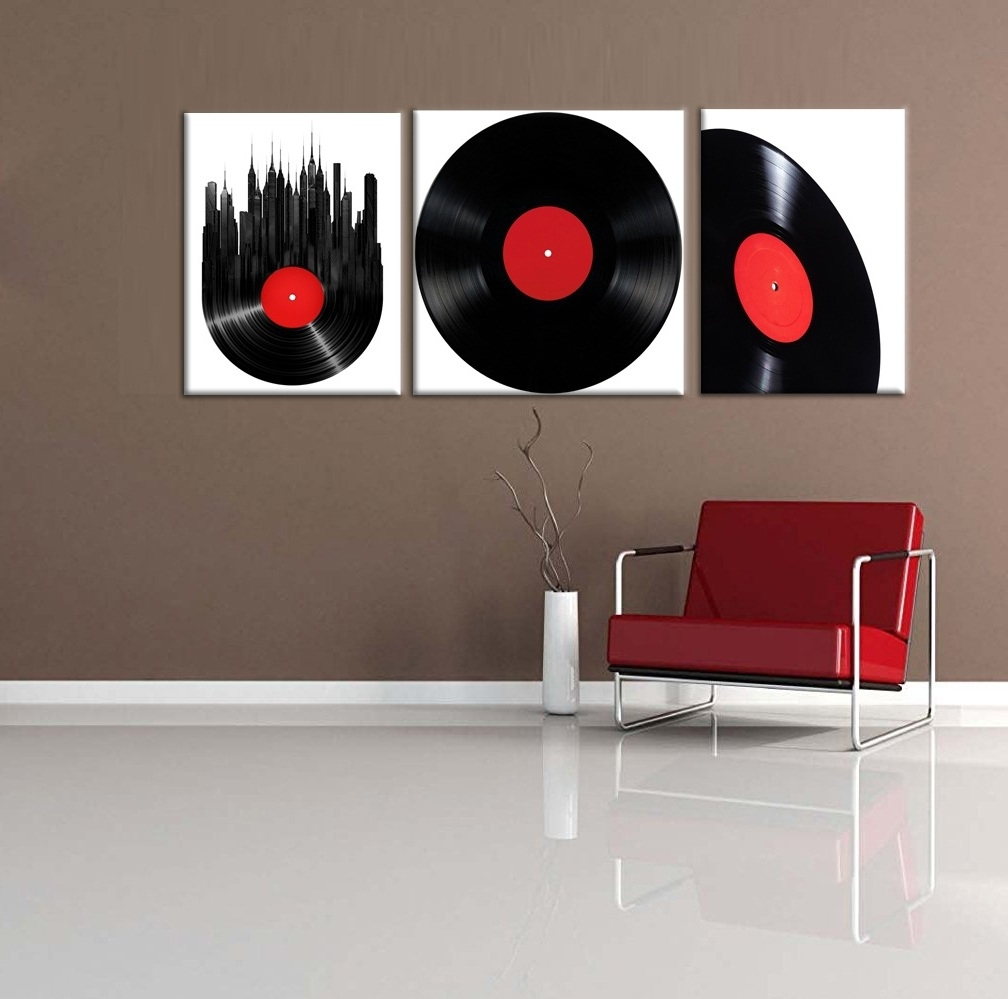 Vintage Retro Disk Abstract Painting Wall Art Modern Canvas Art Wall Pertaining To Most Up To Date Modern Framed Wall Art Canvas (View 20 of 20)