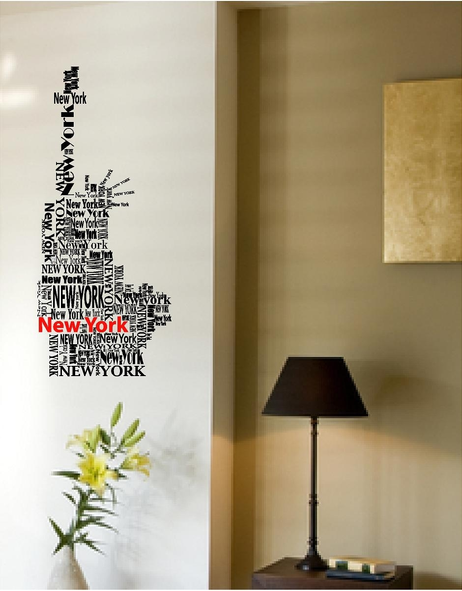Vinyl Wall Art | New York Wall Decal Statue Of Liberty Throughout 2017 New York Wall Art (Gallery 15 of 20)