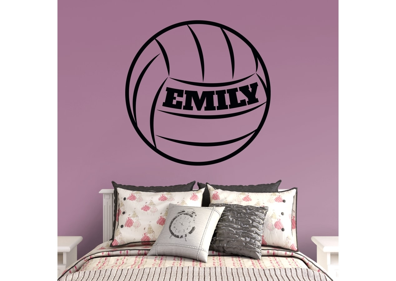 Volleyball Personalized Name Wall Decal | Shop Fathead® For Wall Art With Latest Name Wall Art (View 19 of 20)