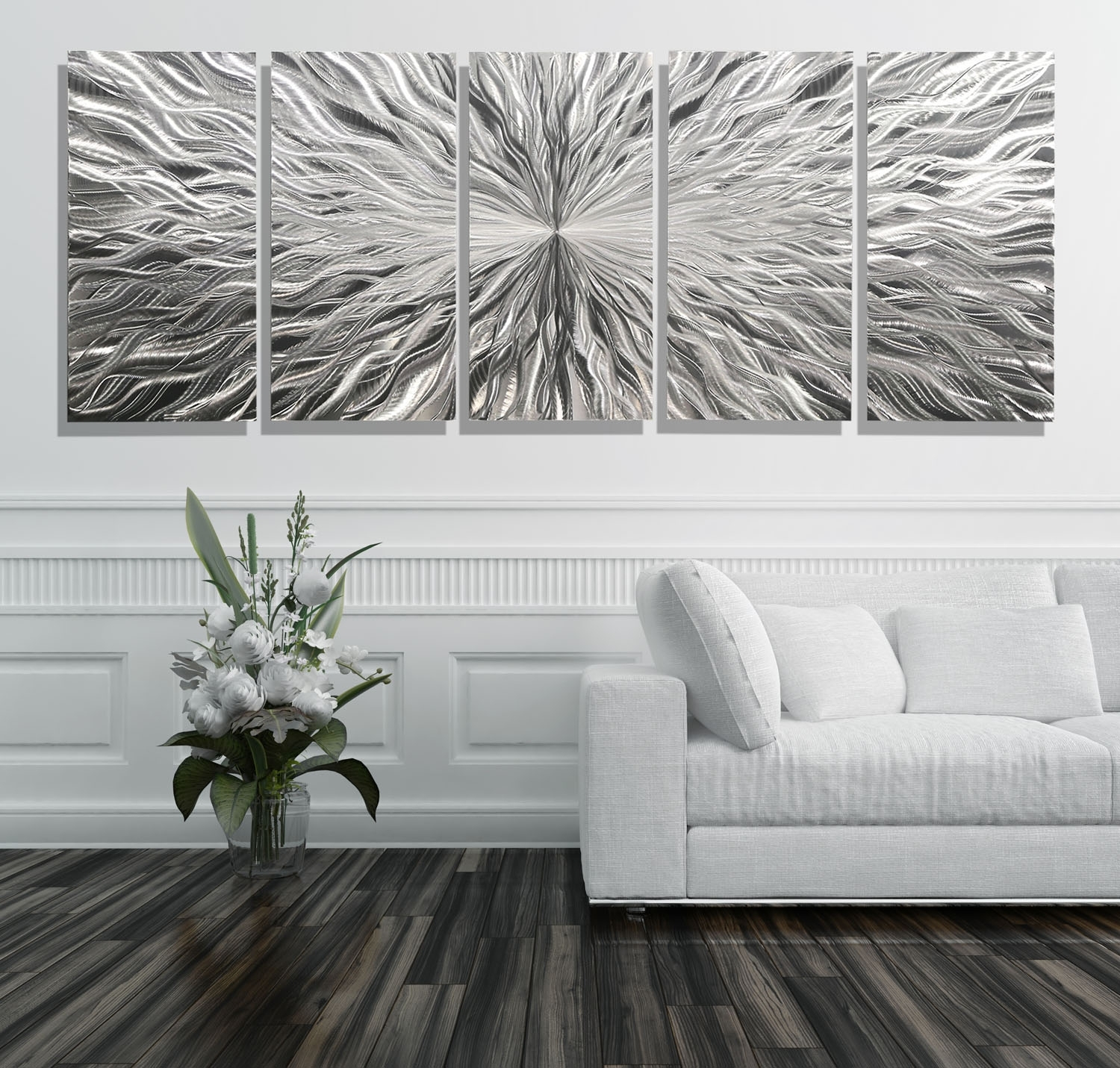 Vortex 5 Xl - Extra Large 5 Panel Modern Abstract Metal Wall Art for Most Current Extra Large Wall Art