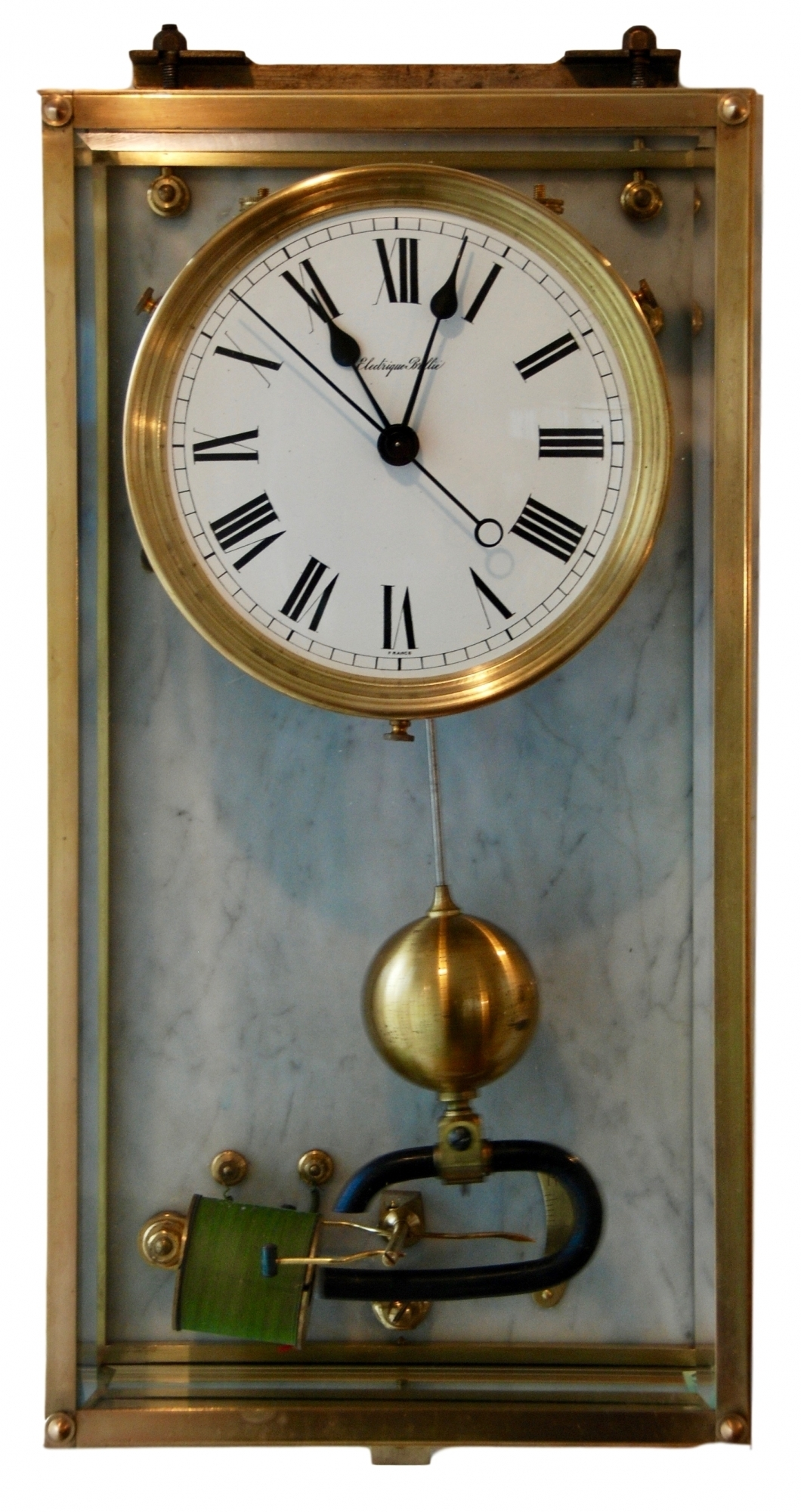 W44 Brass Art Deco Electrique Brillié Wall Clock | Artlistings For Most Recently Released Art Deco Wall Clock (View 20 of 20)