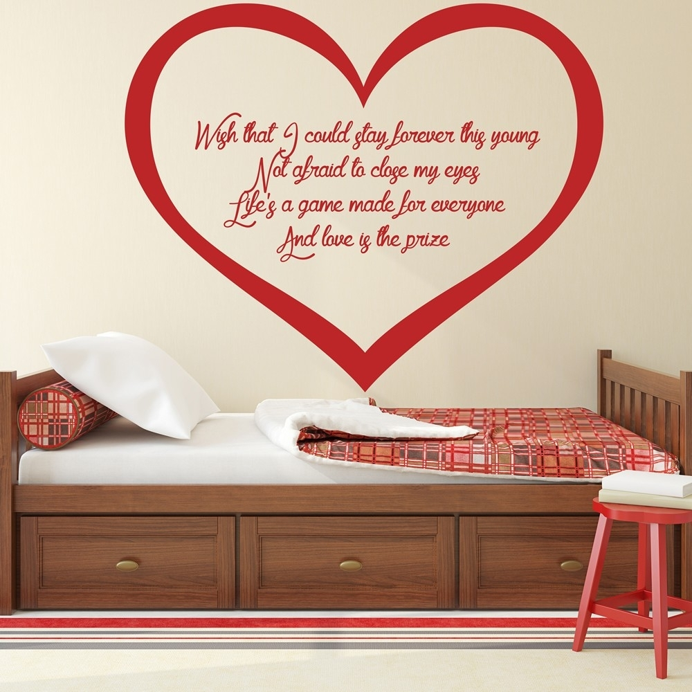 Wake Me Up Wall Sticker Avicii Wall Art For Latest Wall Sticker Art (View 14 of 15)