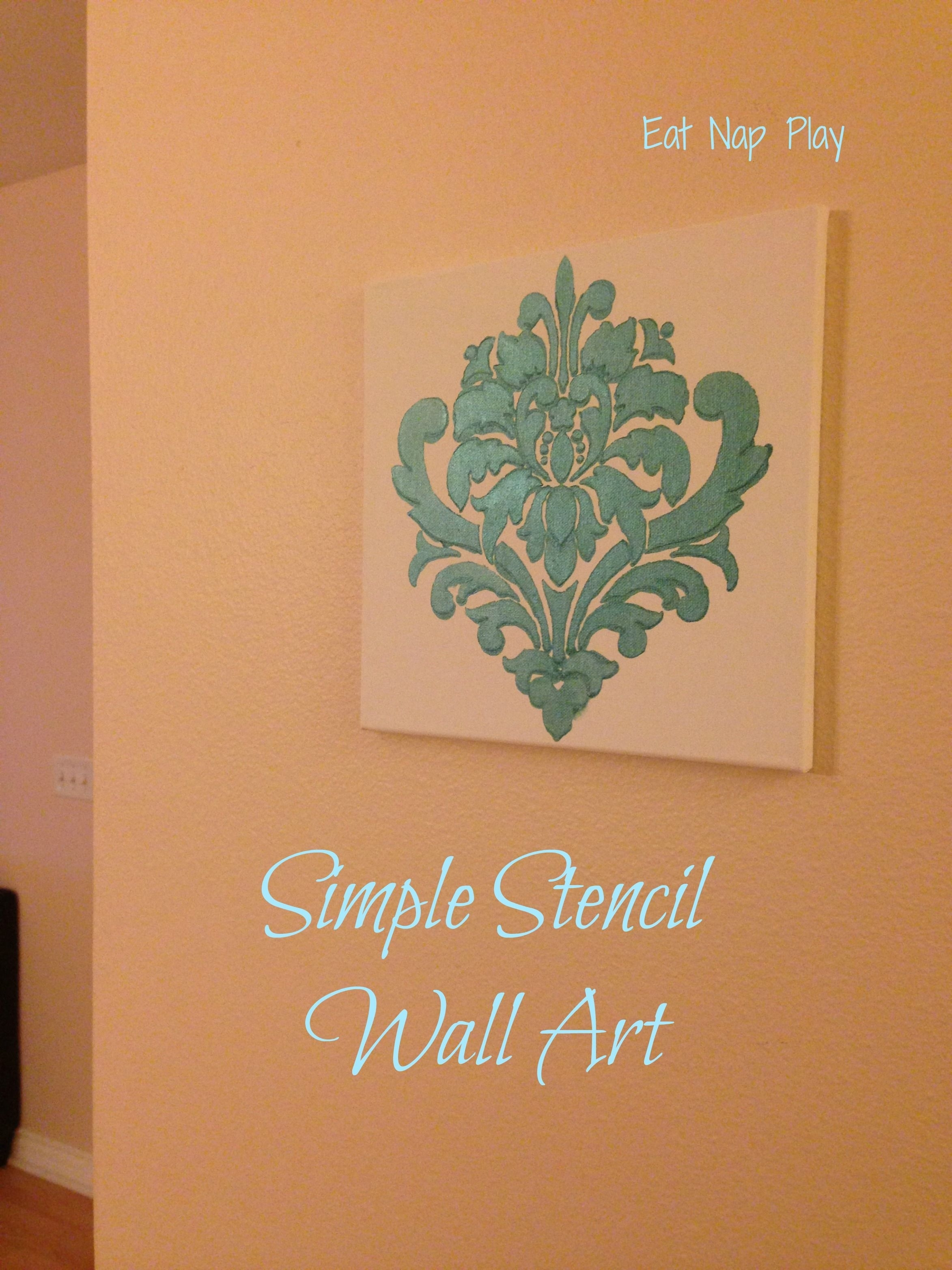 Wall Art (2346×3128) | Stencil | Pinterest | Stenciling With Newest Stencil Wall Art (Gallery 12 of 20)