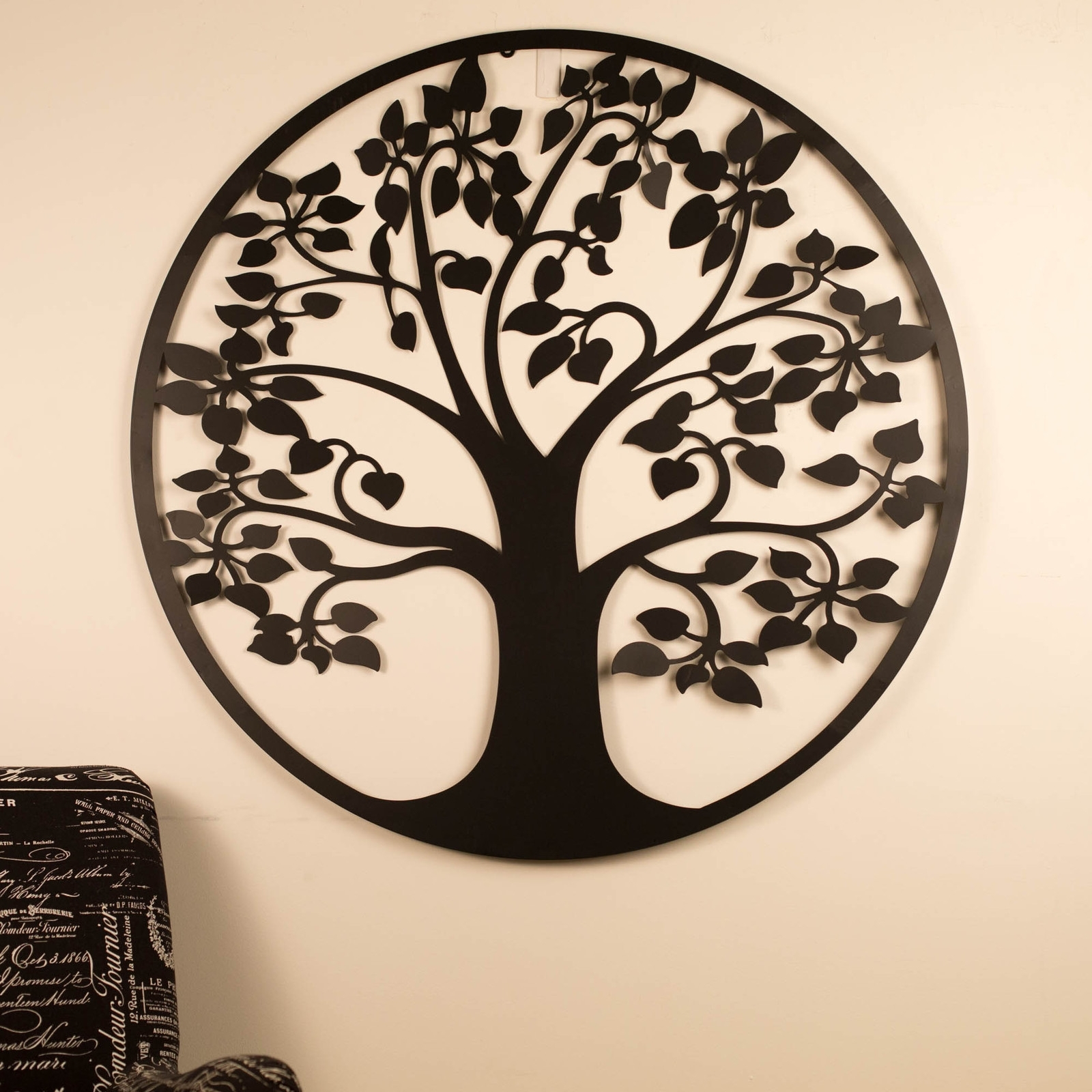 Wall Art 99Cm Tree Of Life Black Metal Unique Steel Stylish Designer With Newest Tree Of Life Wall Art (Gallery 7 of 15)