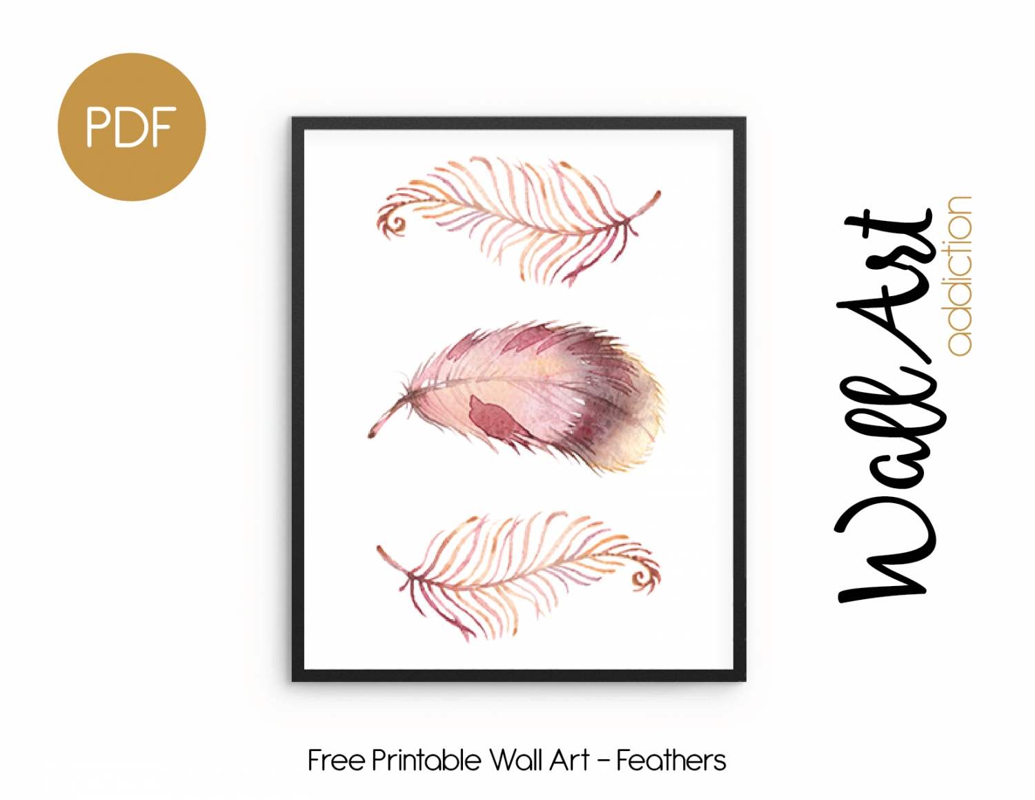 Wall Art Addiction | Feathers Throughout 2017 Free Printable Wall Art (View 1 of 20)