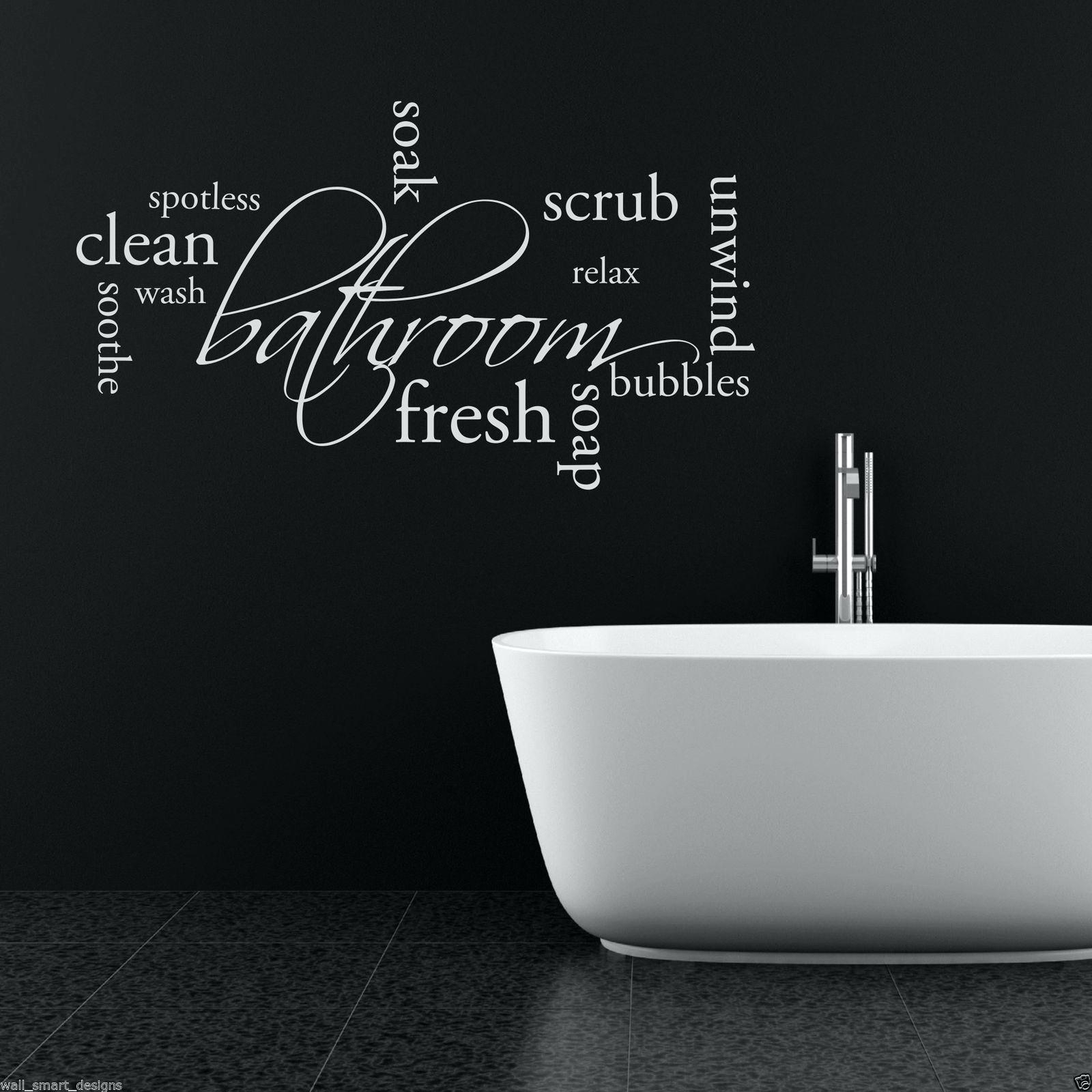Wall Art Decals For Bathroom Relax Unwind Bathroom Wall Sticker Within Recent Relax Wall Art (Gallery 19 of 20)