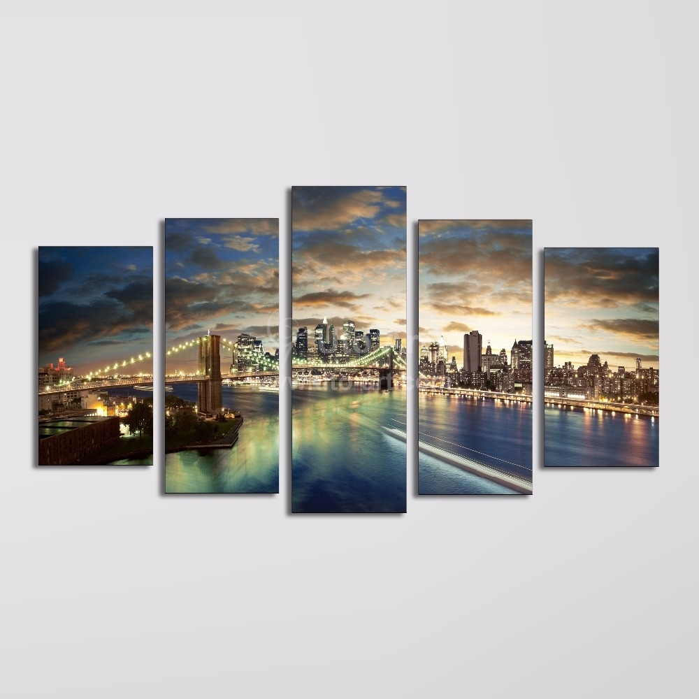 Wall Art Designs: Multi Panel Wall Art Home Decor Canvas 5 Panel Pertaining To 2017 Multi Panel Wall Art (View 12 of 15)