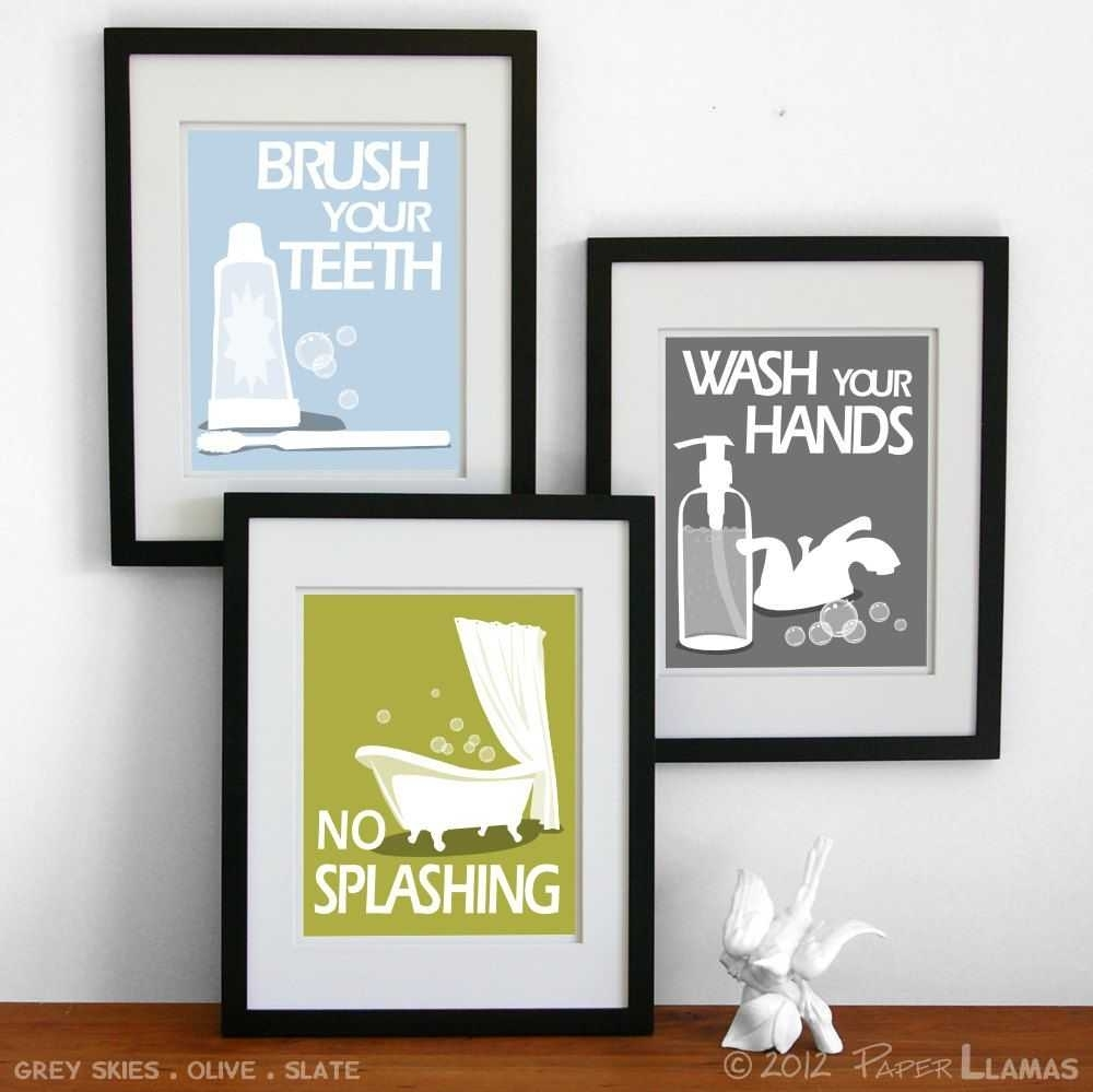 Wall Art For Bathrooms Pictures Including Outstanding Decals Decor Intended For Most Popular Bathroom Wall Art Decors (View 5 of 15)