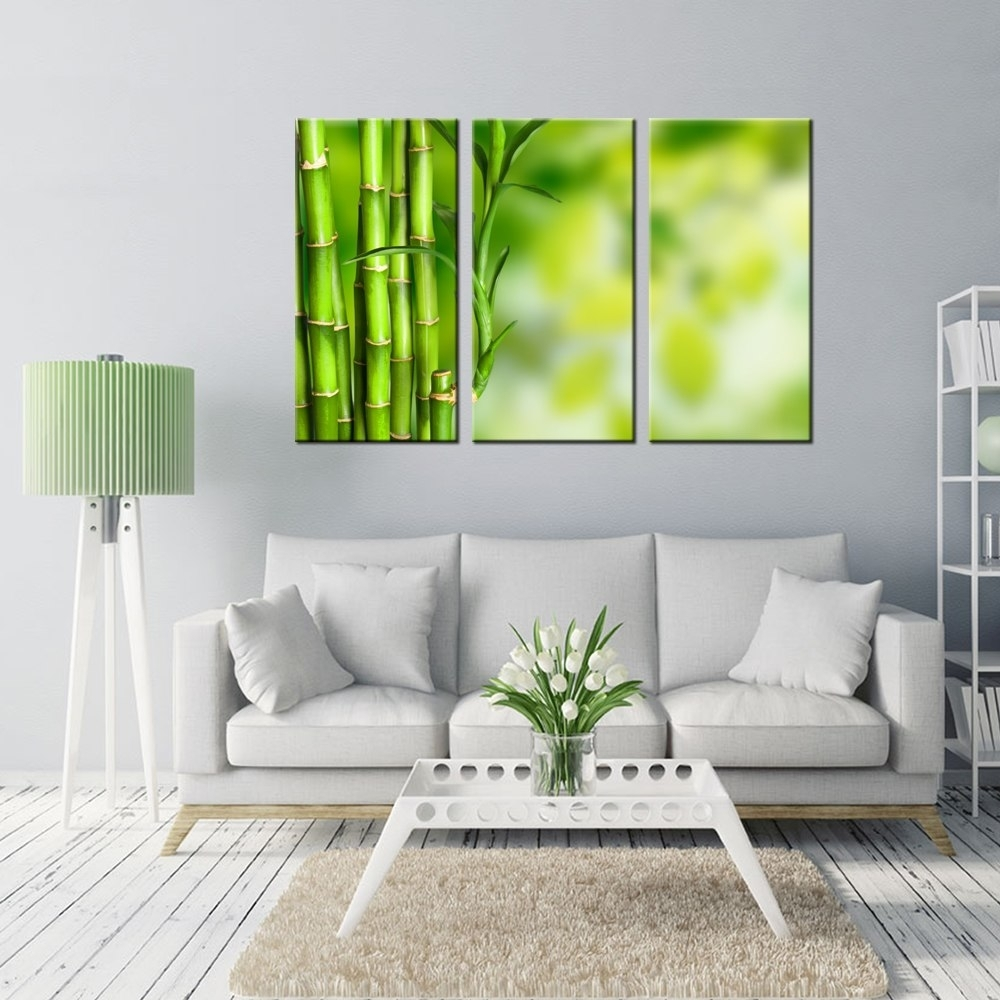 Wall Art For Home Decoration Green Bamboo Pictures Prints Modern With Regard To Current Bamboo Wall Art (View 19 of 20)