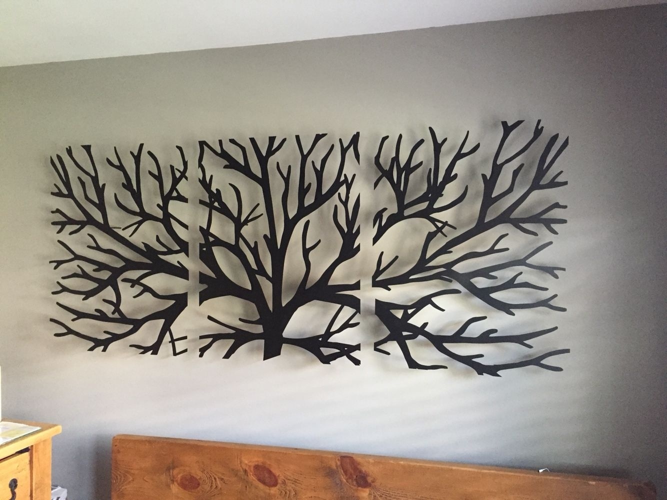 Wall Art Headboard … | Adorno | Pinte… For Latest Tree Wall Art (View 13 of 15)