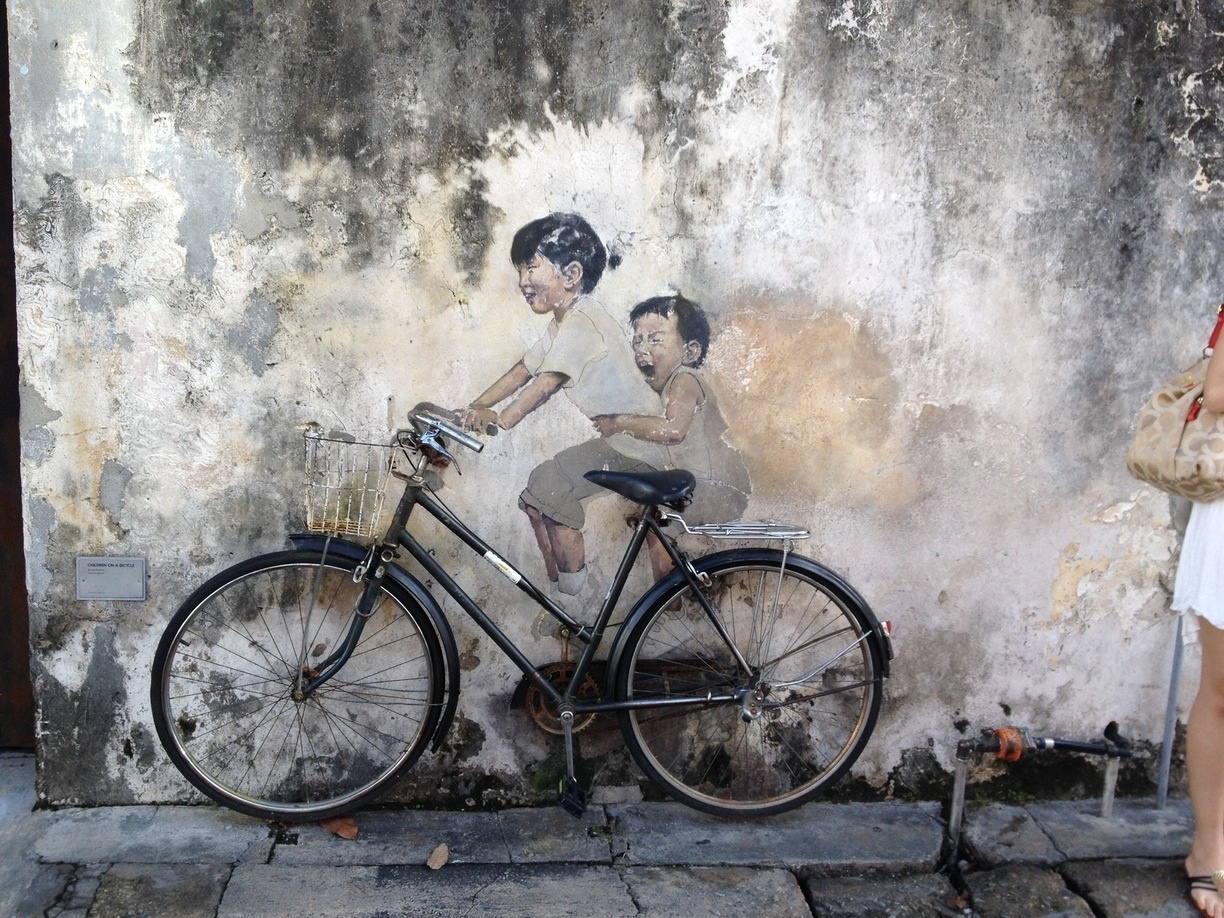 Wall Art Kids On Bicycle, George Town, Malaysia – Magnificent Wall Regarding 2017 Bicycle Wall Art (View 11 of 20)