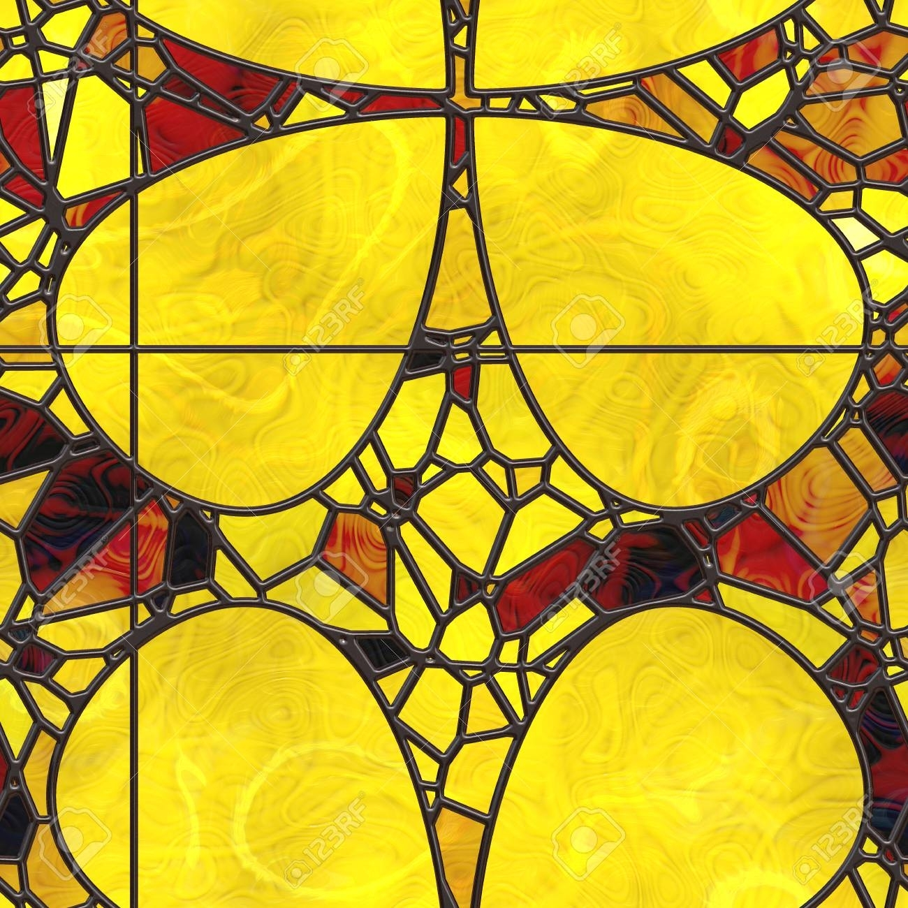 Wall Art Nature. Stained Glass Abstract Pattern (View 13 of 20)