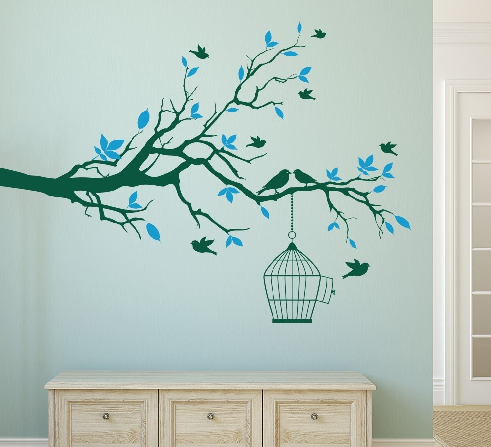 Wall Art Stickers Tree Branch Amazing How To Design Wall Art – Wall Inside Most Popular Wall Art Stickers (View 15 of 15)