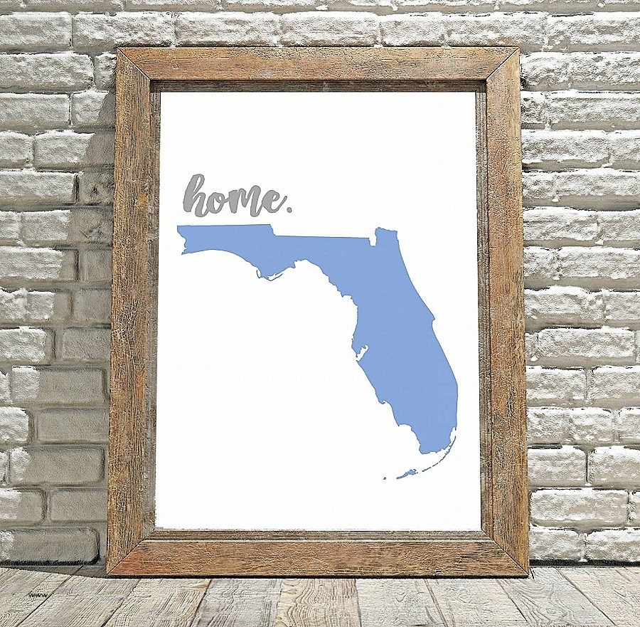 Wall Art. Unique Florida Gator Wall Art: Florida Gator Wall Art With Most Recently Released Florida Wall Art (Gallery 13 of 20)
