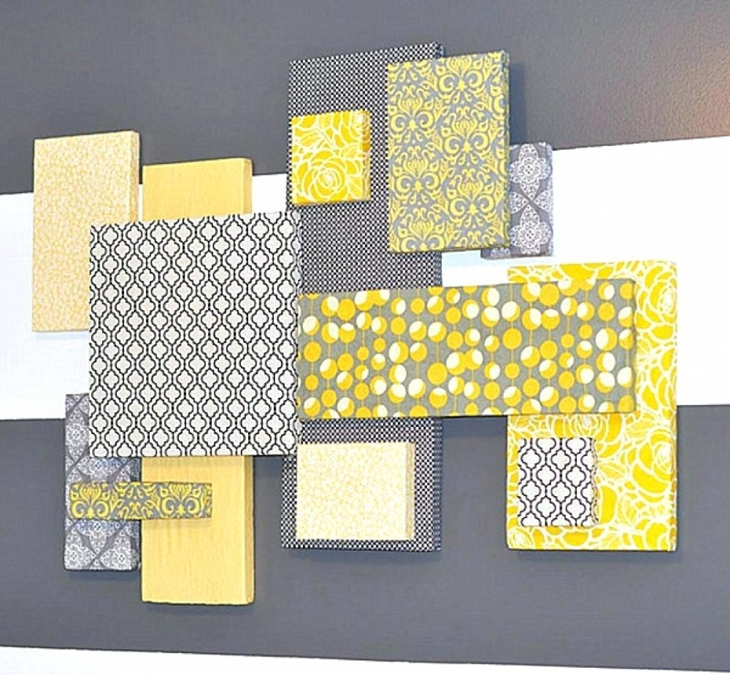 Wall Arts Gray And Yellow Wall Art Canvas Grey And Yellow Wall Pertaining To Newest Yellow Wall Art (View 17 of 20)