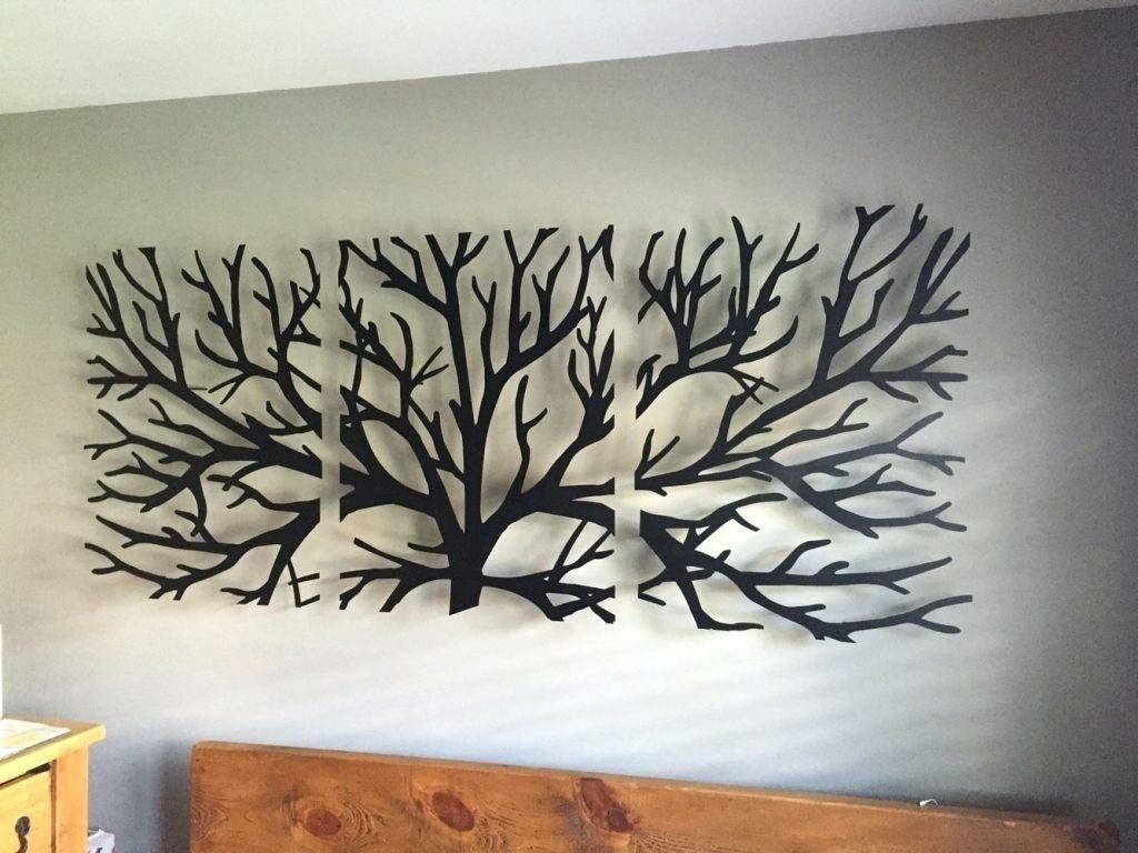 Wall Arts Metal Wall Art Trees And Branches Wall Art Headboard With Regard To Newest Tree Of Life Wall Art (View 8 of 15)