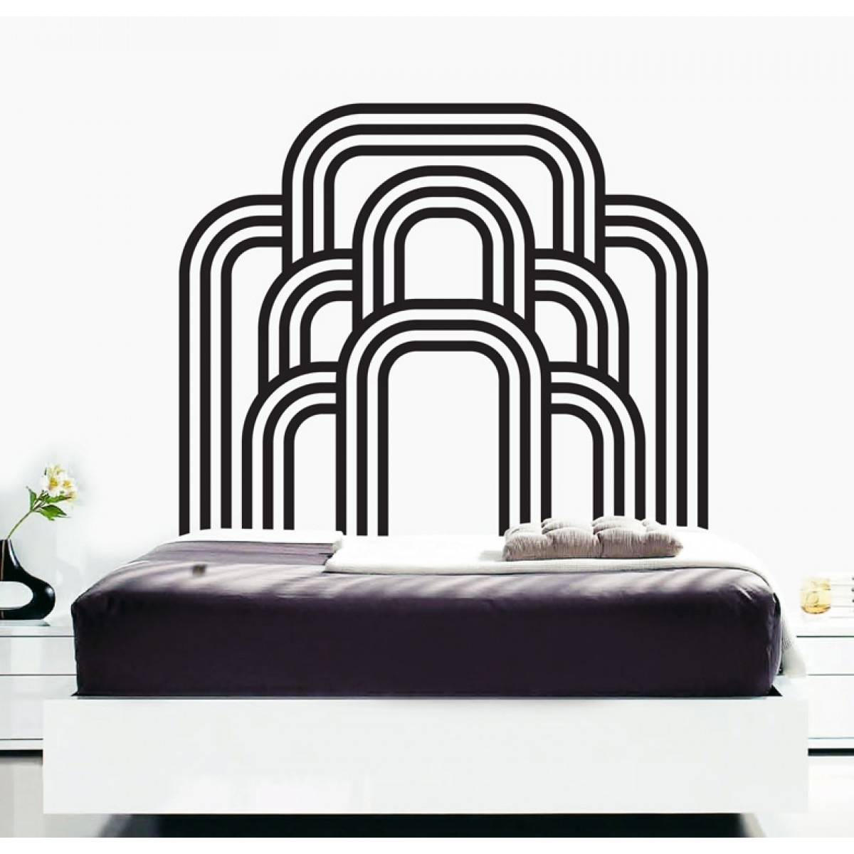 Wall Decals – Thewonderwalls® | Bedroom Art Deco Wall Stickers Within Most Current Art Deco Wall Art (View 6 of 20)