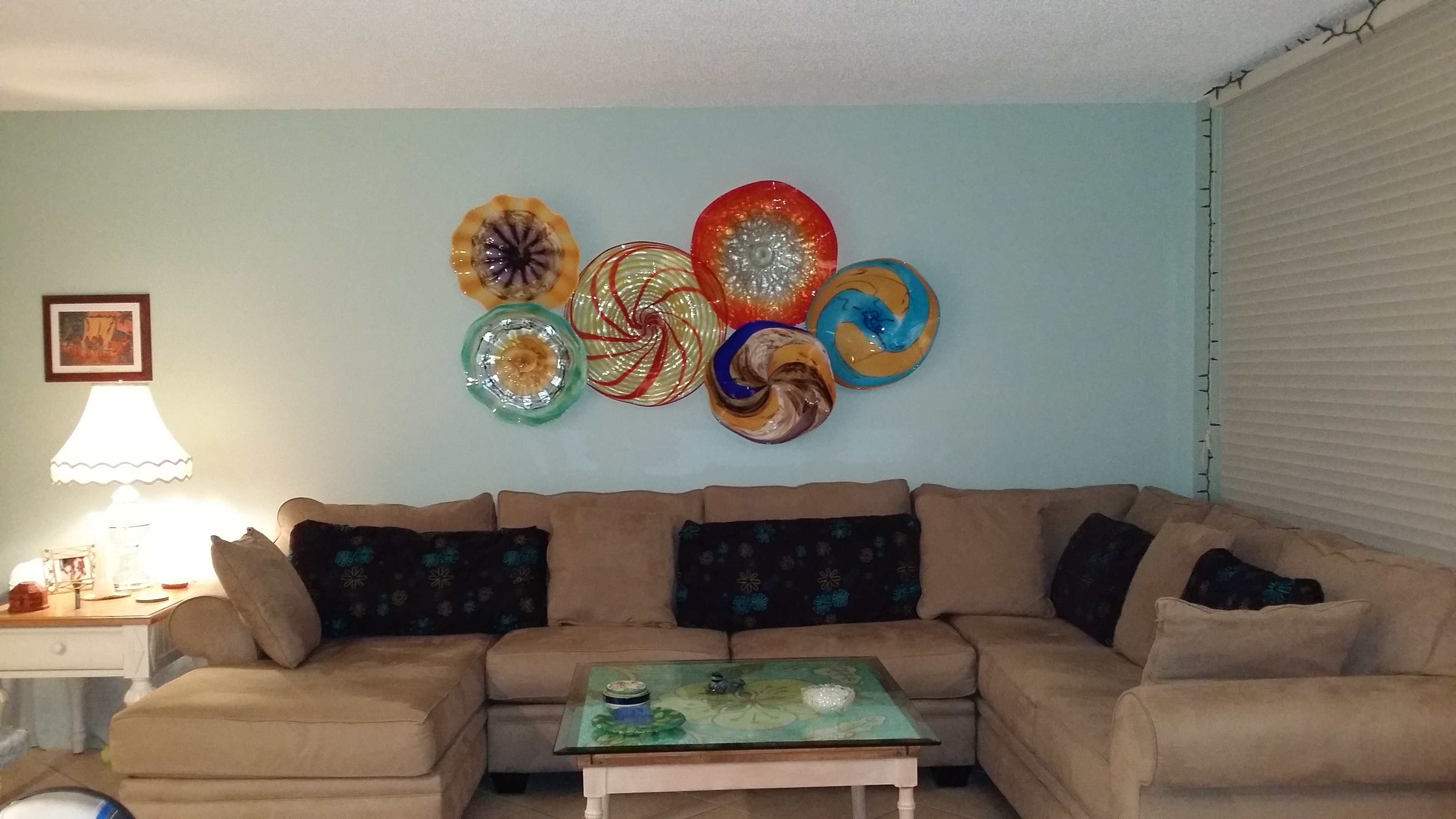 Wall Decor Glass Plates – Jscollectionofficial Intended For Current Glass Plate Wall Art (Gallery 5 of 15)