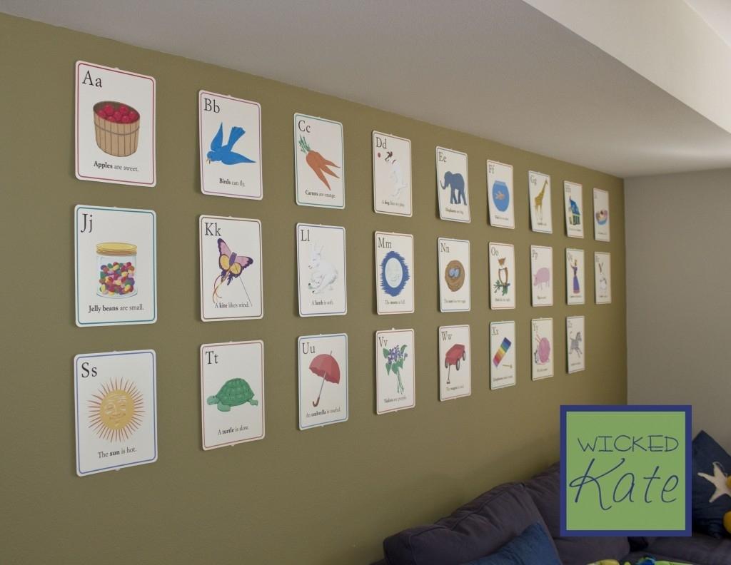 Wall Decor Playroom Maribo Co – Pelikansurf Throughout Most Recent Alphabet Wall Art (Gallery 19 of 20)