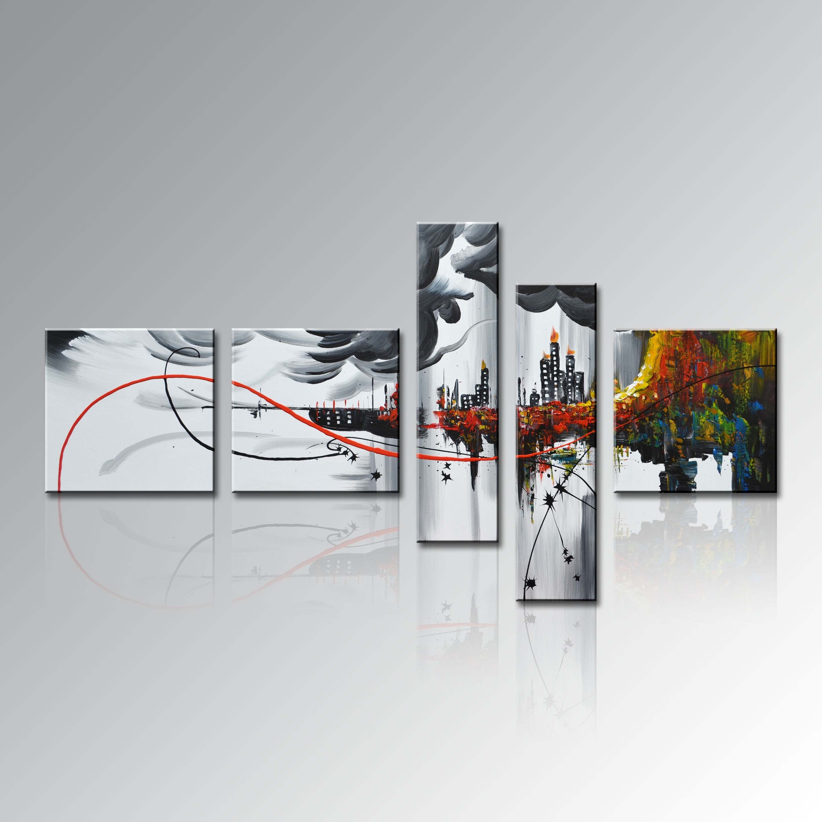 Wall Paintings For Home Modern Framed Home Decor Wall Art Abstract Pertaining To Most Recently Released Modern Framed Wall Art Canvas (View 4 of 20)