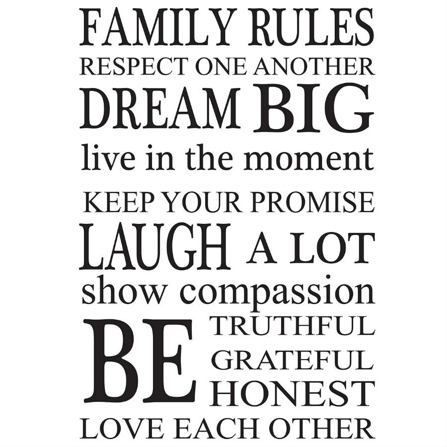 Wall Pops 'family Rules' Wall Art Kit | Robert Dyas Pertaining To Best And Newest Family Rules Wall Art (View 20 of 20)