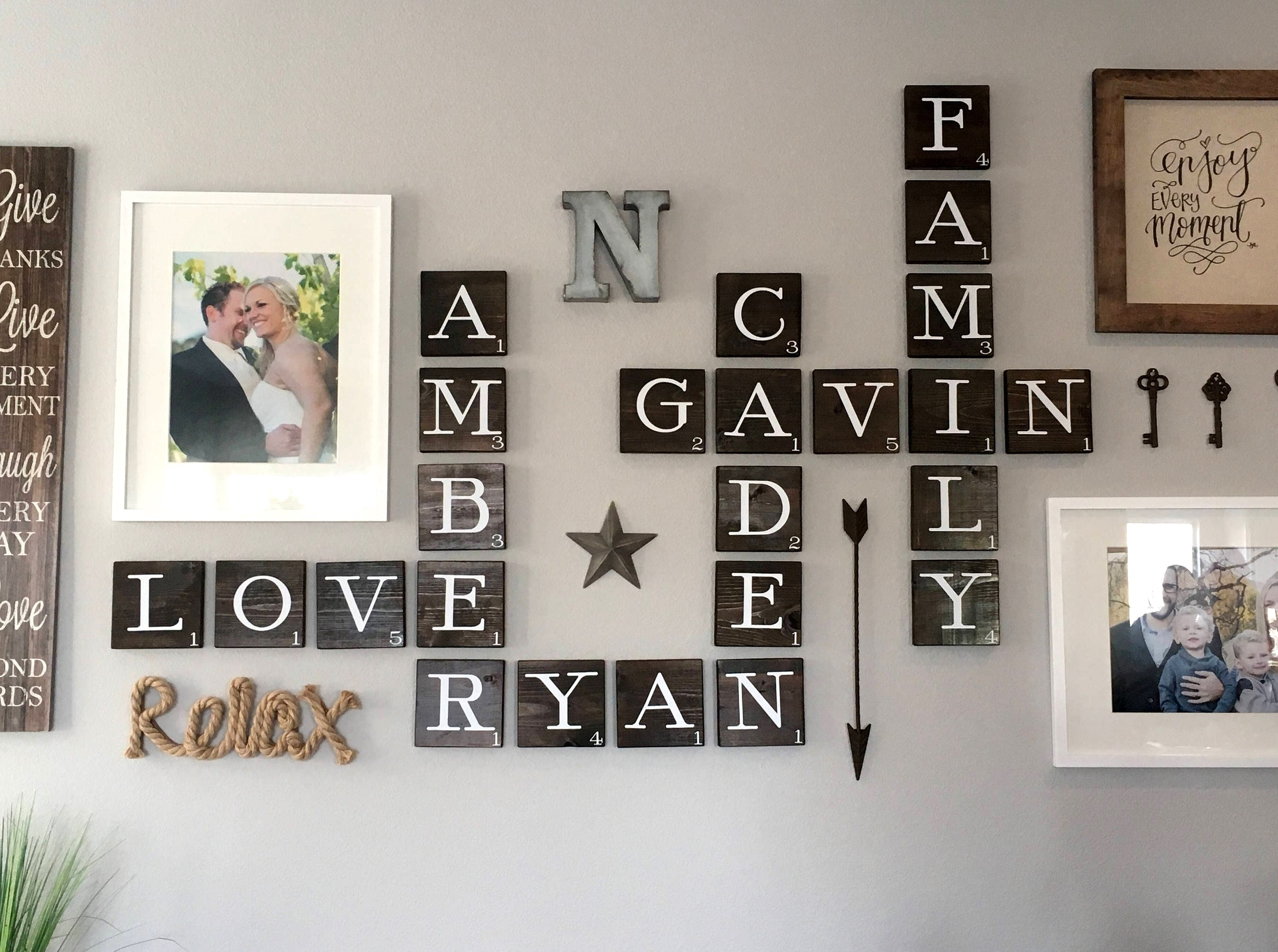 Wall Scrabble Tiles Wall Scrabble Scrabble Wall Tiles Scrabble Wall Pertaining To 2018 Scrabble Wall Art (View 3 of 20)