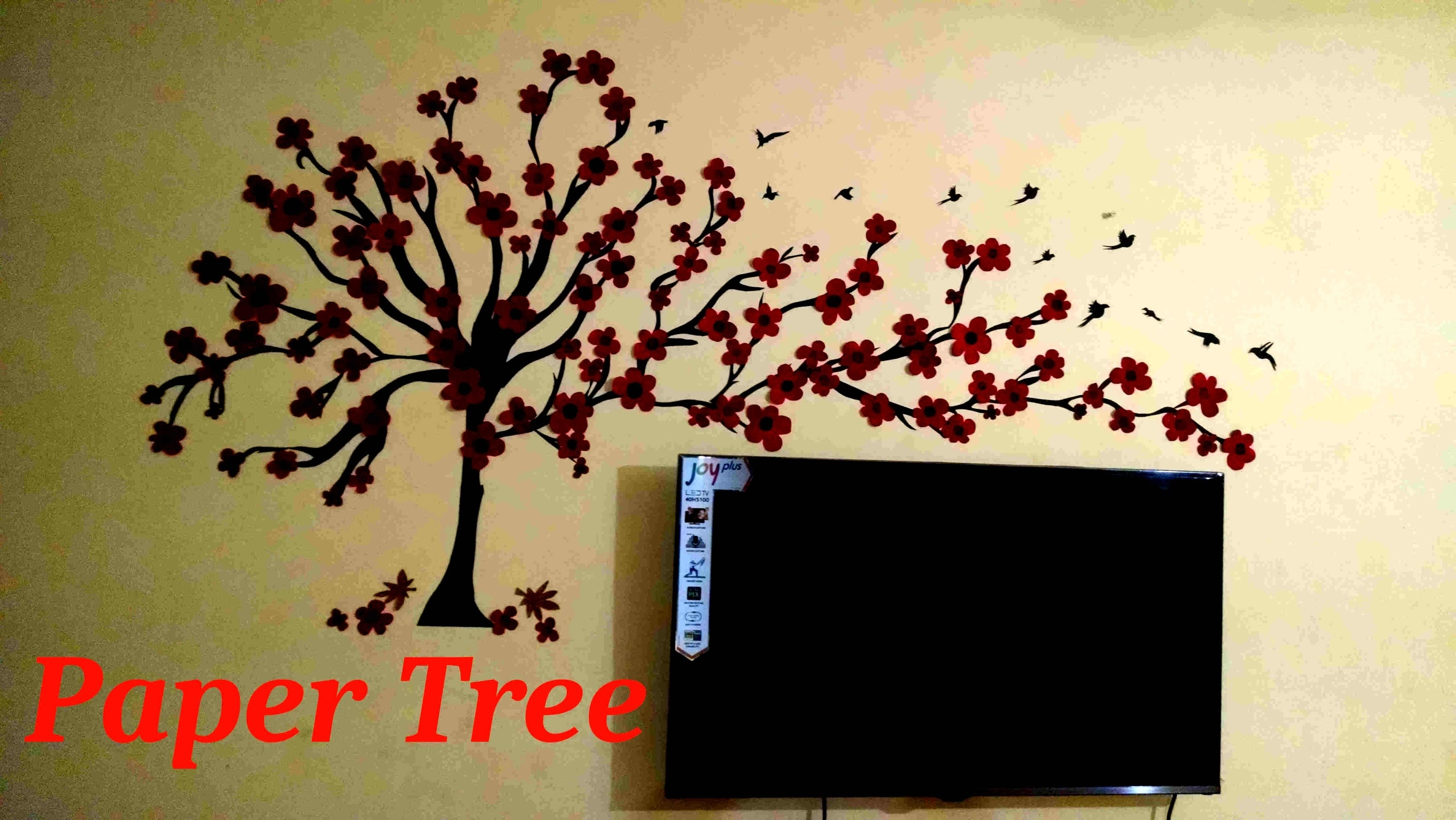 Wall Tree(Paper Wall Art) – Youtube Within Most Popular Wall Tree Art (View 20 of 20)