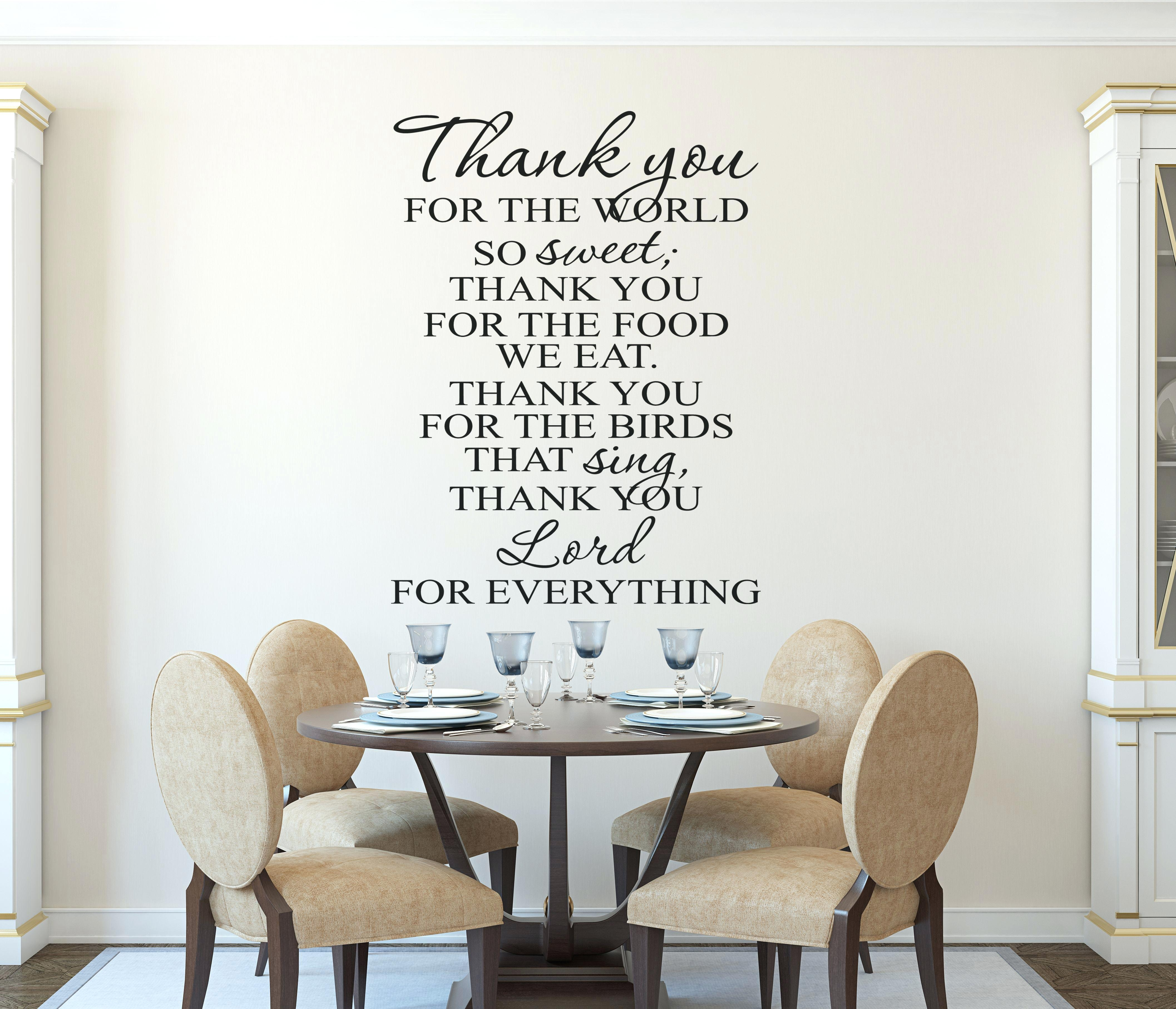 Wall Word Art Decals Christian Wall Art Kitchen Prayer Wall Decal In Most Up To Date Word Art For Walls (View 18 of 20)