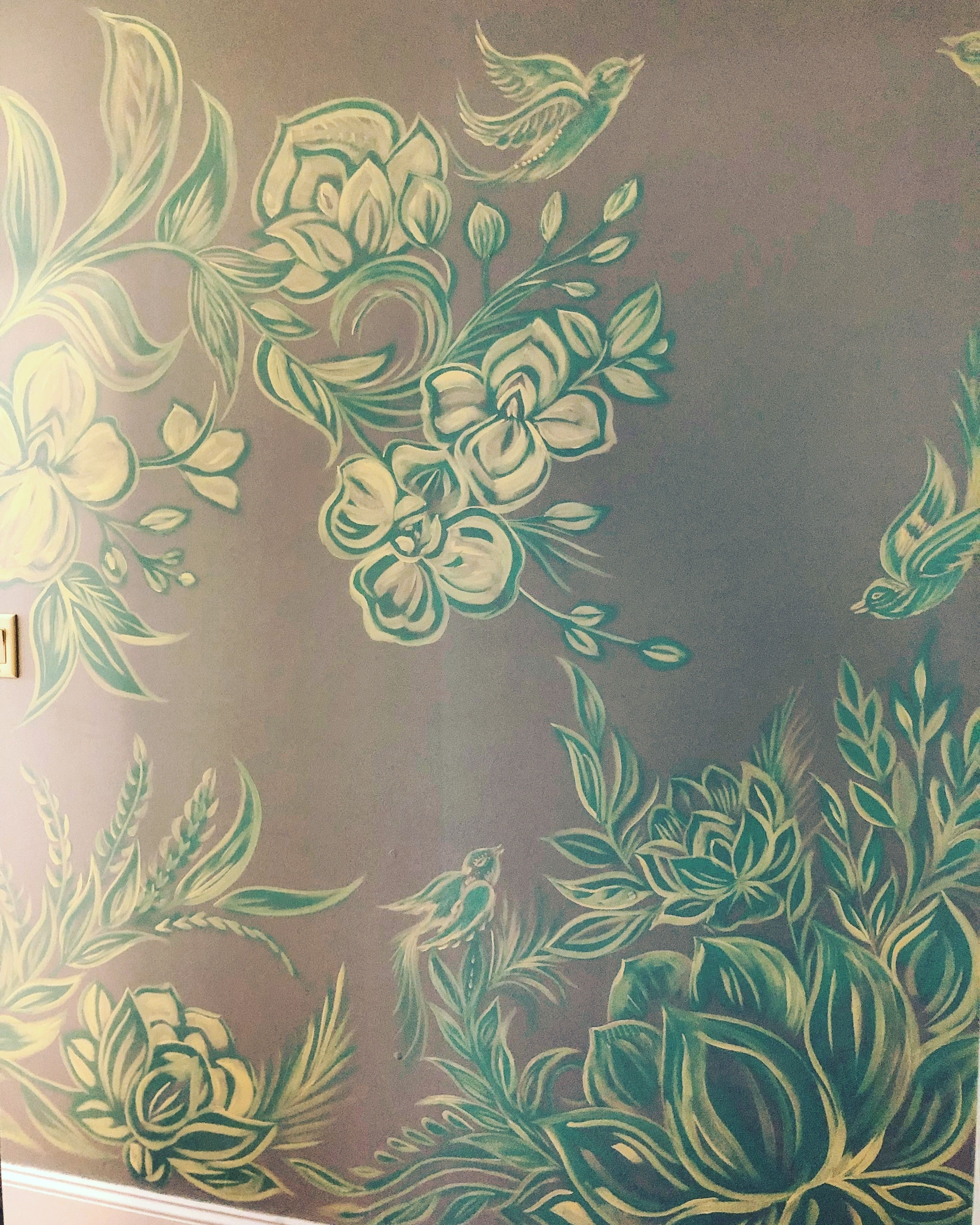 Wallart #mural #floral #decor #interior #lotus #theeyeofhenna Intended For 2018 Henna Wall Art (View 19 of 20)