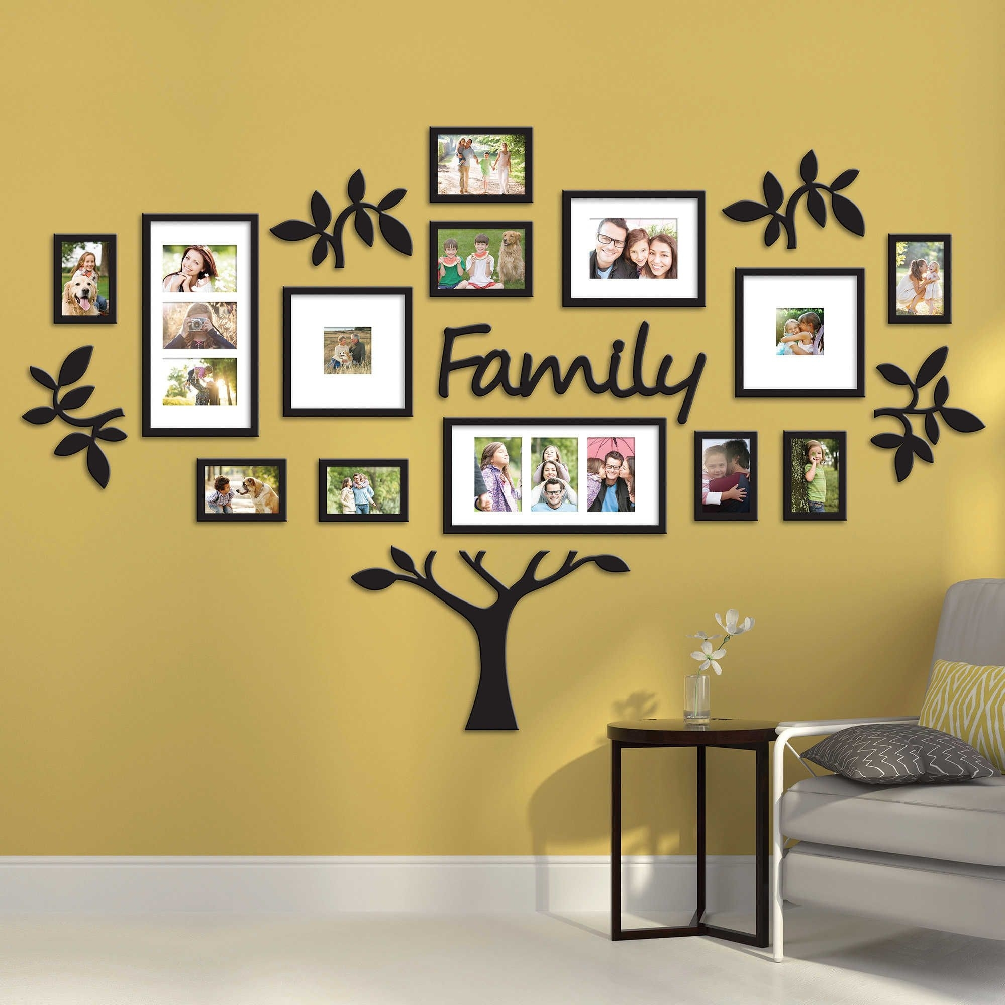 Wallverbs™ 19 Piece Family Tree Set | Home Decor Inspiration Throughout Latest Family Tree Wall Art (View 15 of 15)
