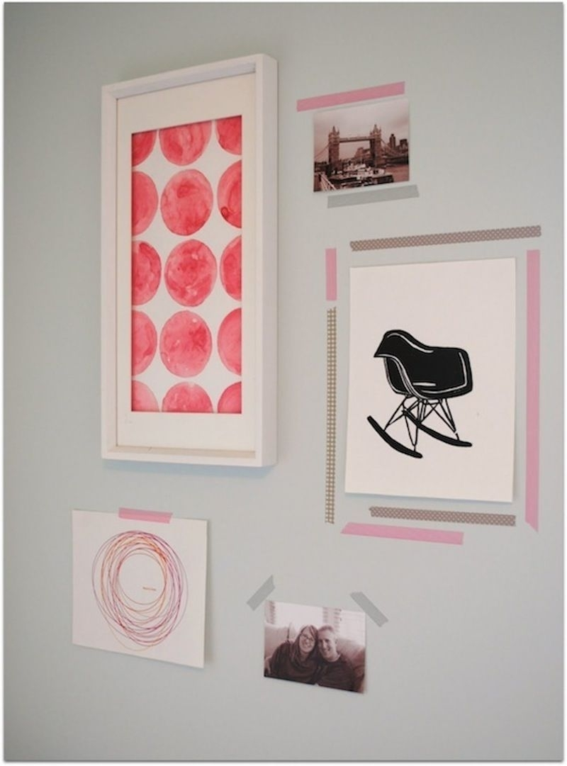 Washi Tape Wall Art Ideas | Pinterest | Tape Wall Art, Tape Wall And For Latest Washi Tape Wall Art (View 18 of 20)