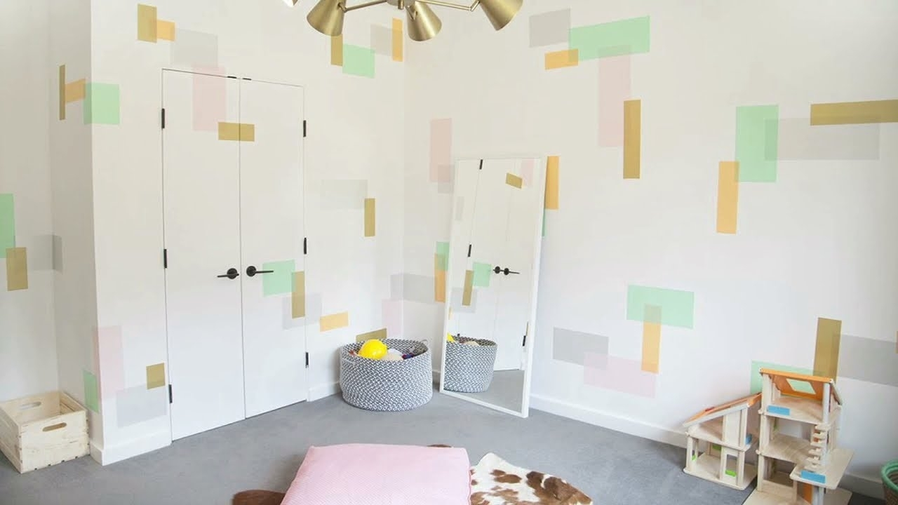 Washi Tape Wall Art In The Playroom – Youtube With Best And Newest Washi Tape Wall Art (View 17 of 20)
