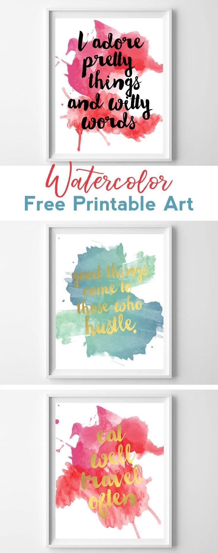 Watercolor Free Printables | Diy Crafts | Pinterest | Kate Spade Regarding Newest Kate Spade Wall Art (View 20 of 20)
